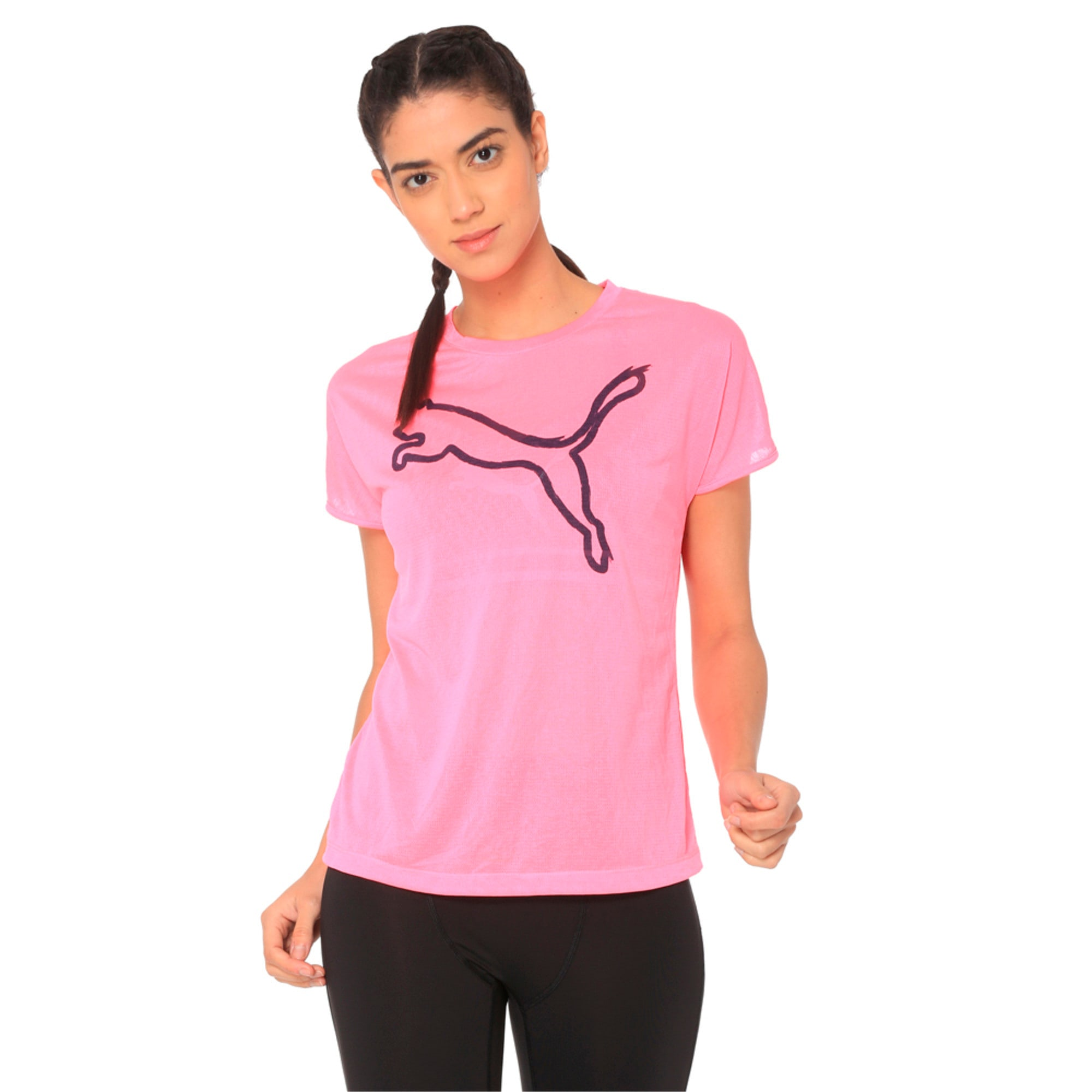 Thumbnail 1 of A.C.E. Crew Neck Women's T-Shirt, KNOCKOUT PINK, medium-IND