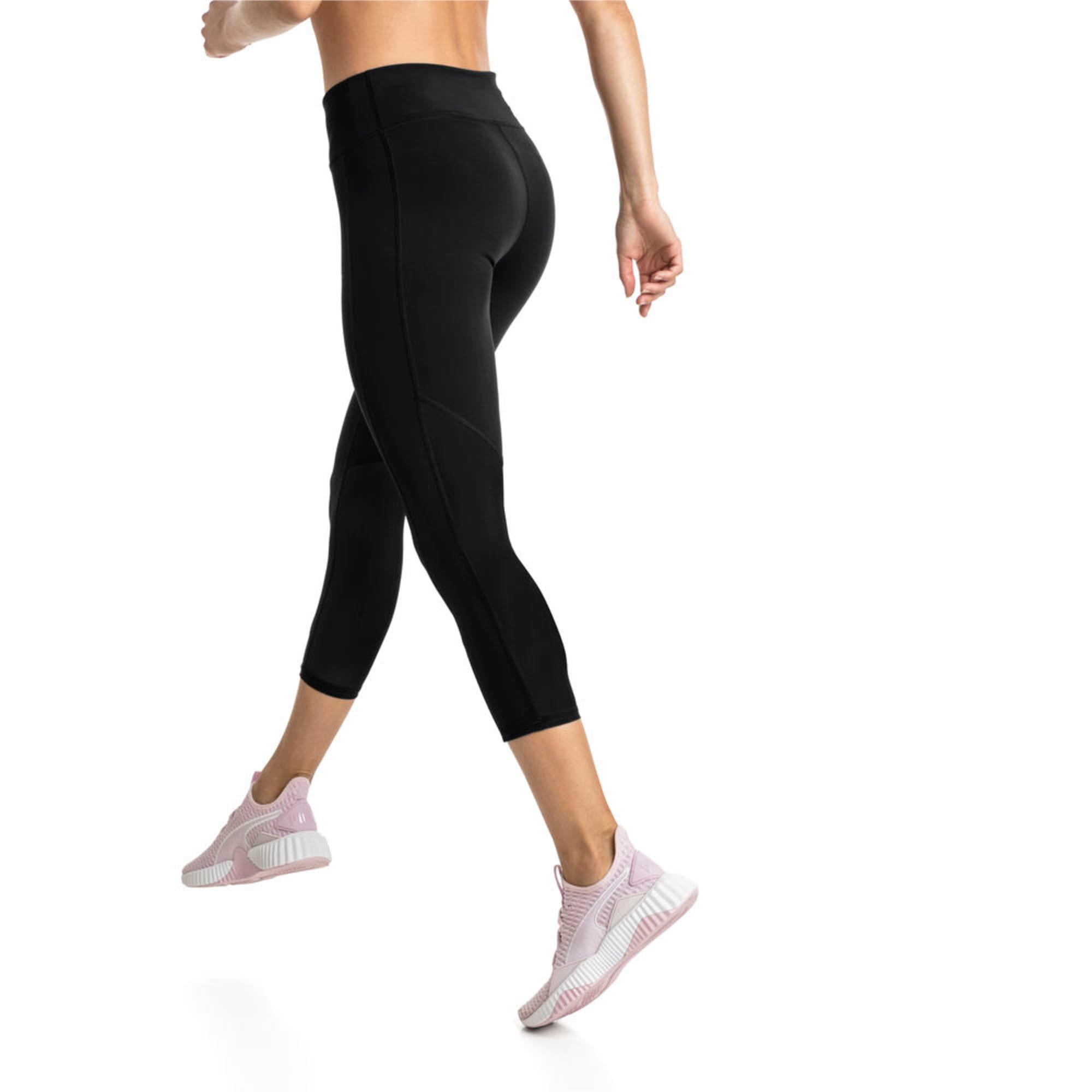 Thumbnail 5 of Always On Solid 3/4 Women's Tights, Puma Black, medium-IND
