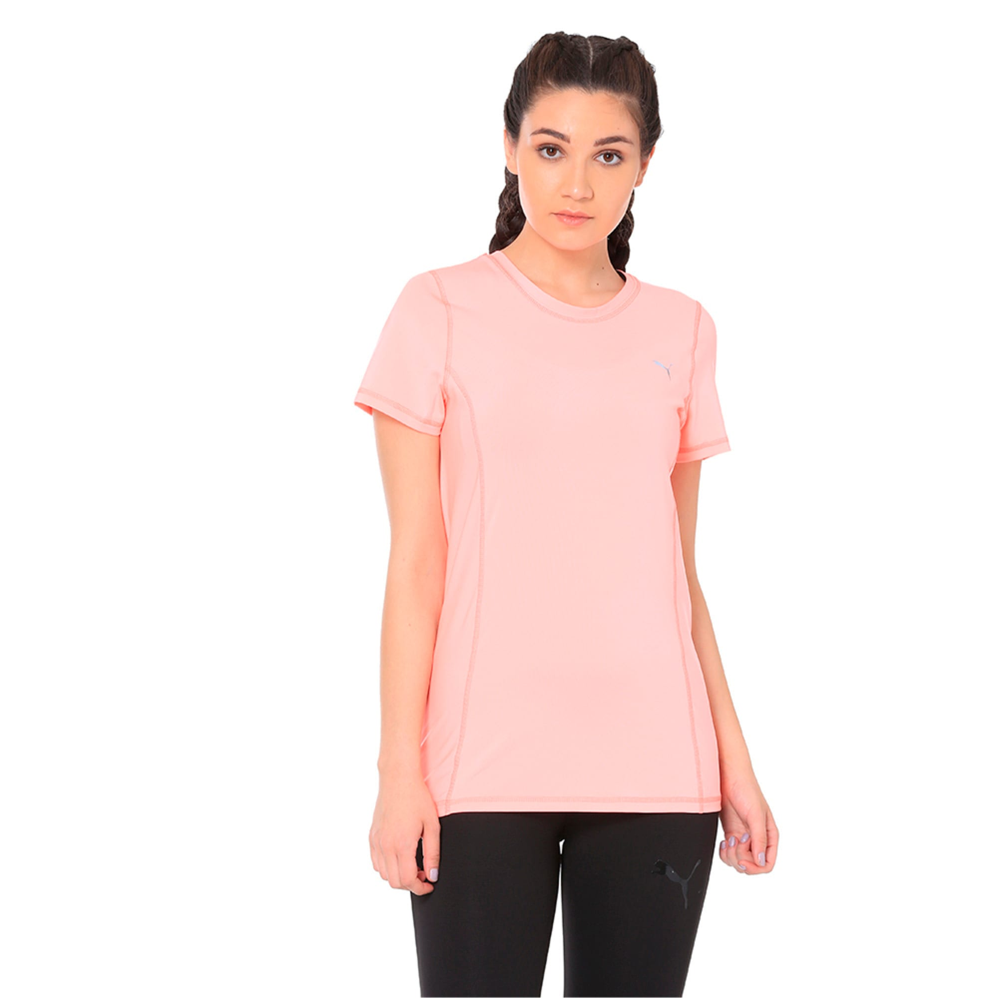 Thumbnail 4 of Essential Tee, Soft Fluo Peach, medium-IND