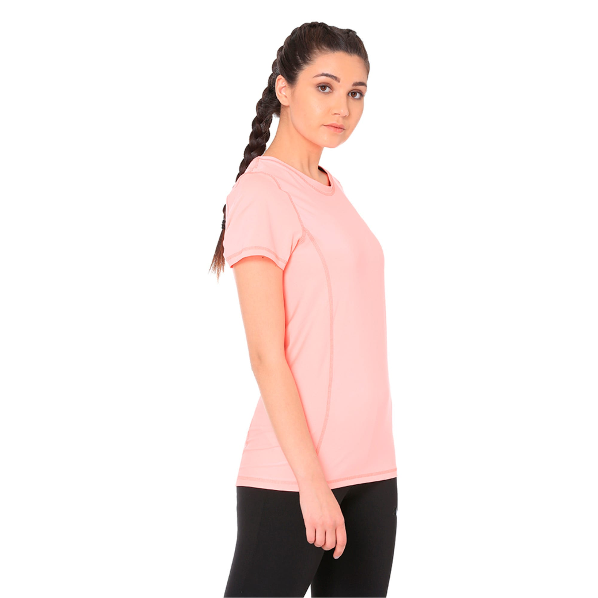 Thumbnail 3 of Essential Tee, Soft Fluo Peach, medium-IND