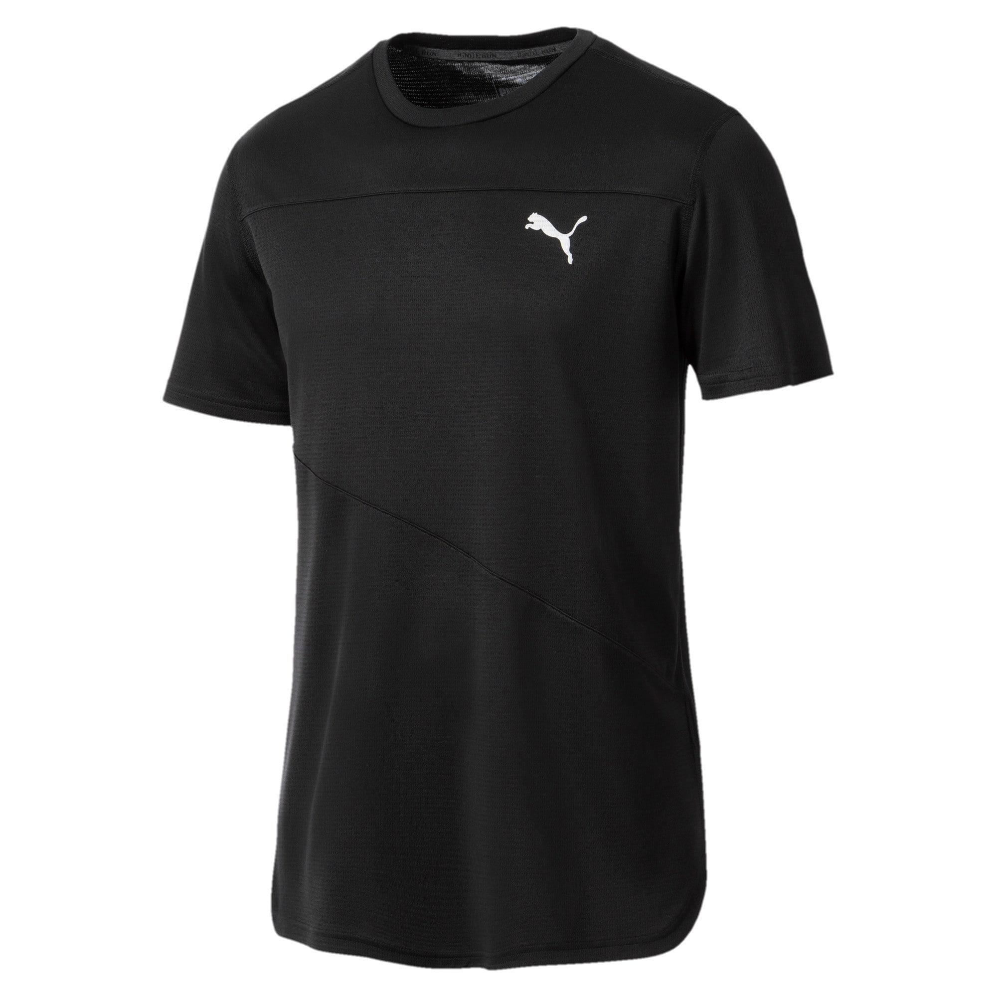 Thumbnail 2 of Running Men's IGNITE Mono T-Shirt, Puma Black, medium-IND
