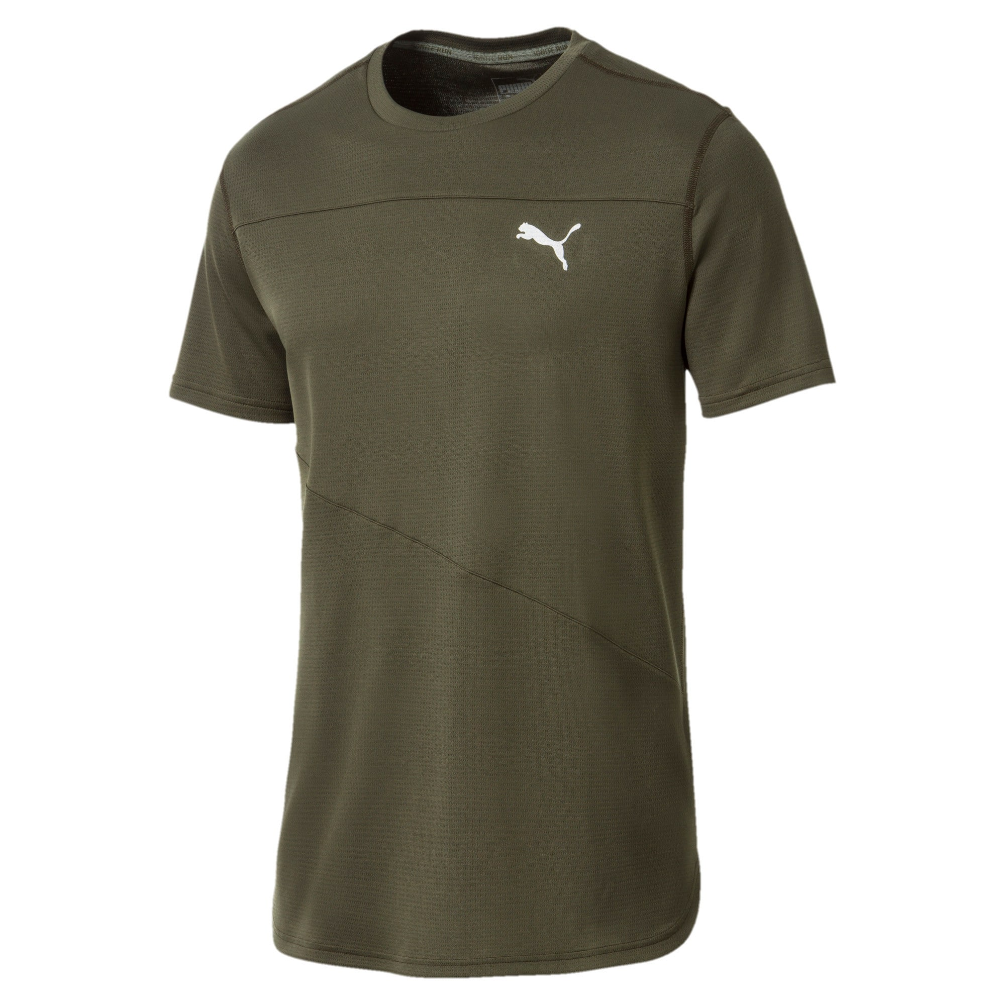 Thumbnail 4 of Running Men's IGNITE Mono T-Shirt, Forest Night, medium-IND