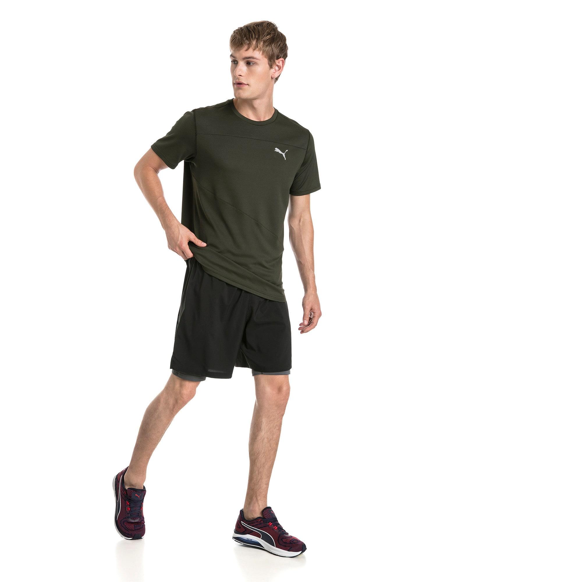 Thumbnail 3 of Running Men's IGNITE Mono T-Shirt, Forest Night, medium-IND