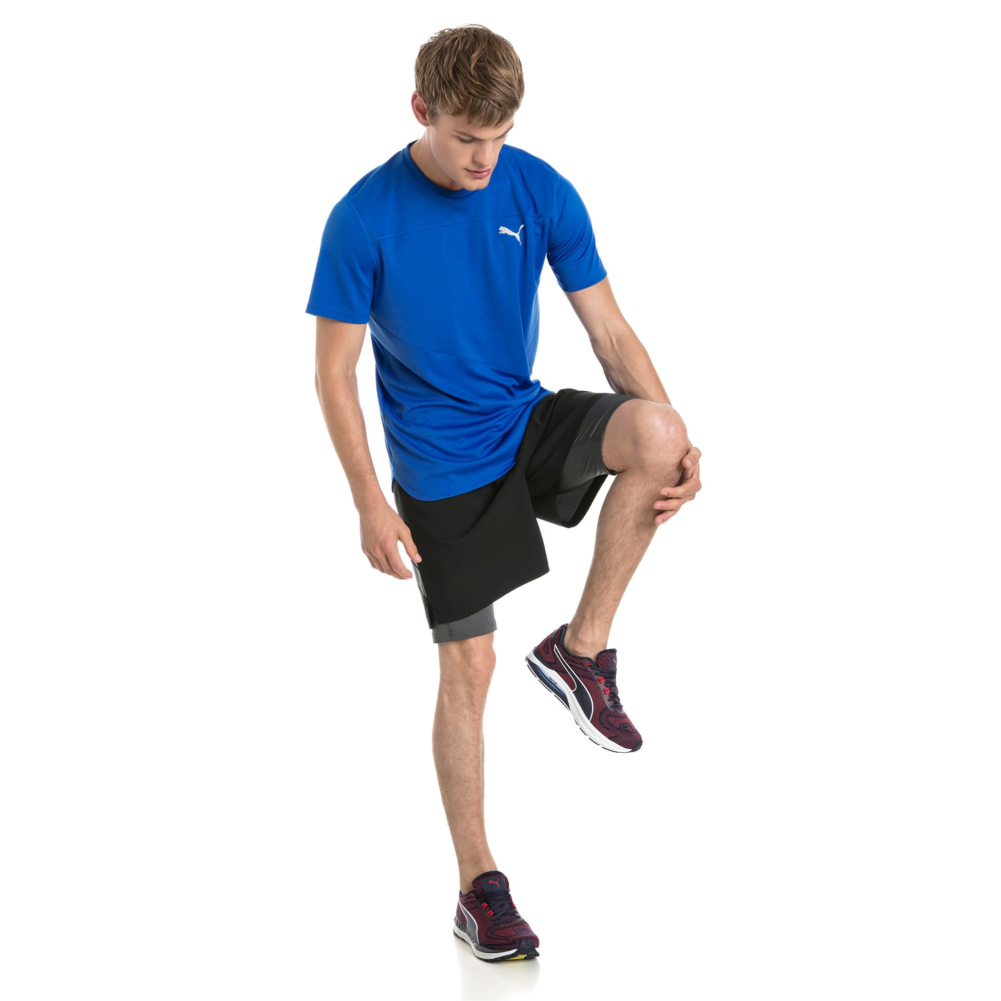 Thumbnail 2 of Running Men's IGNITE Mono T-Shirt, Strong Blue, medium-IND