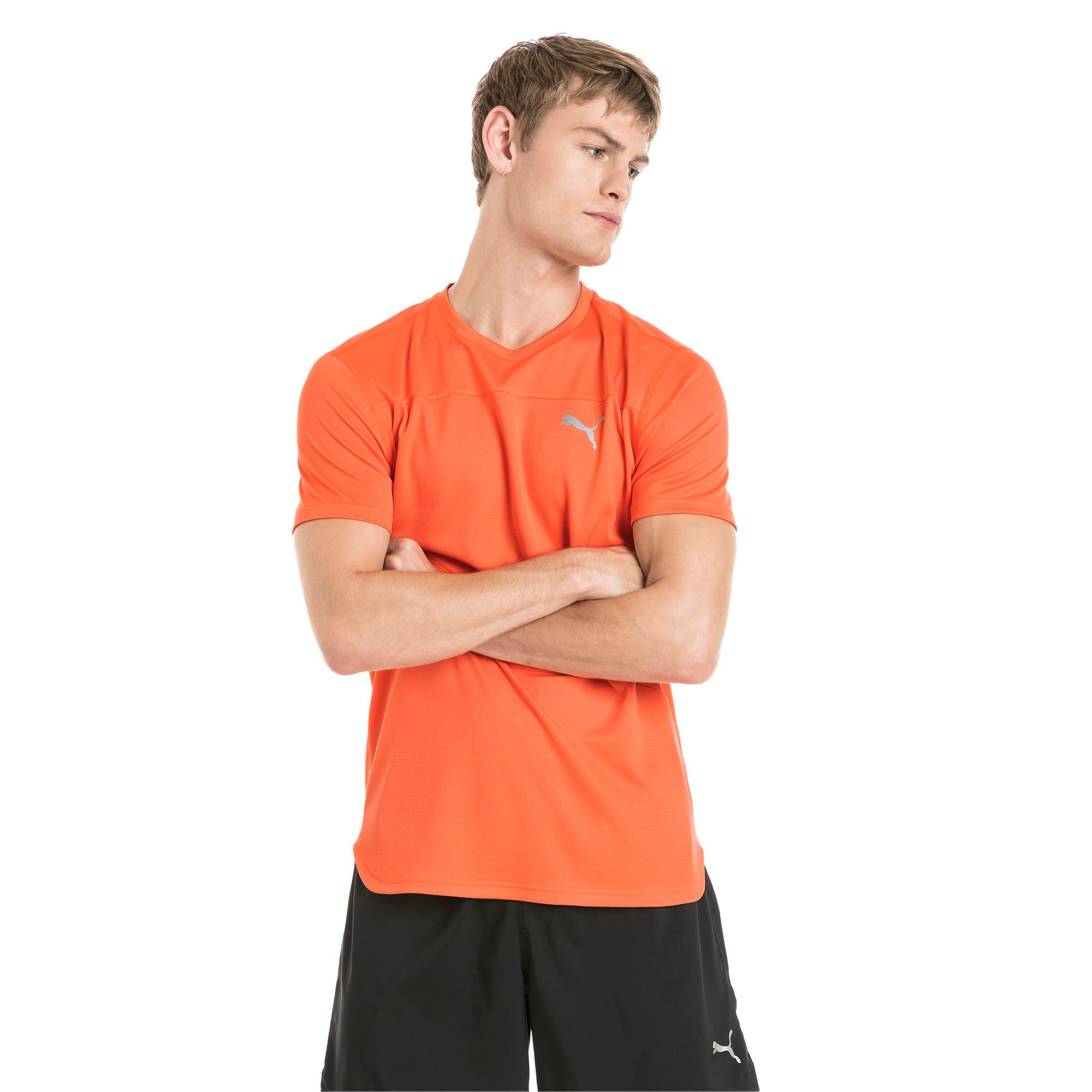 Thumbnail 1 of Running Men's IGNITE Mono T-Shirt, Firecracker, medium-IND