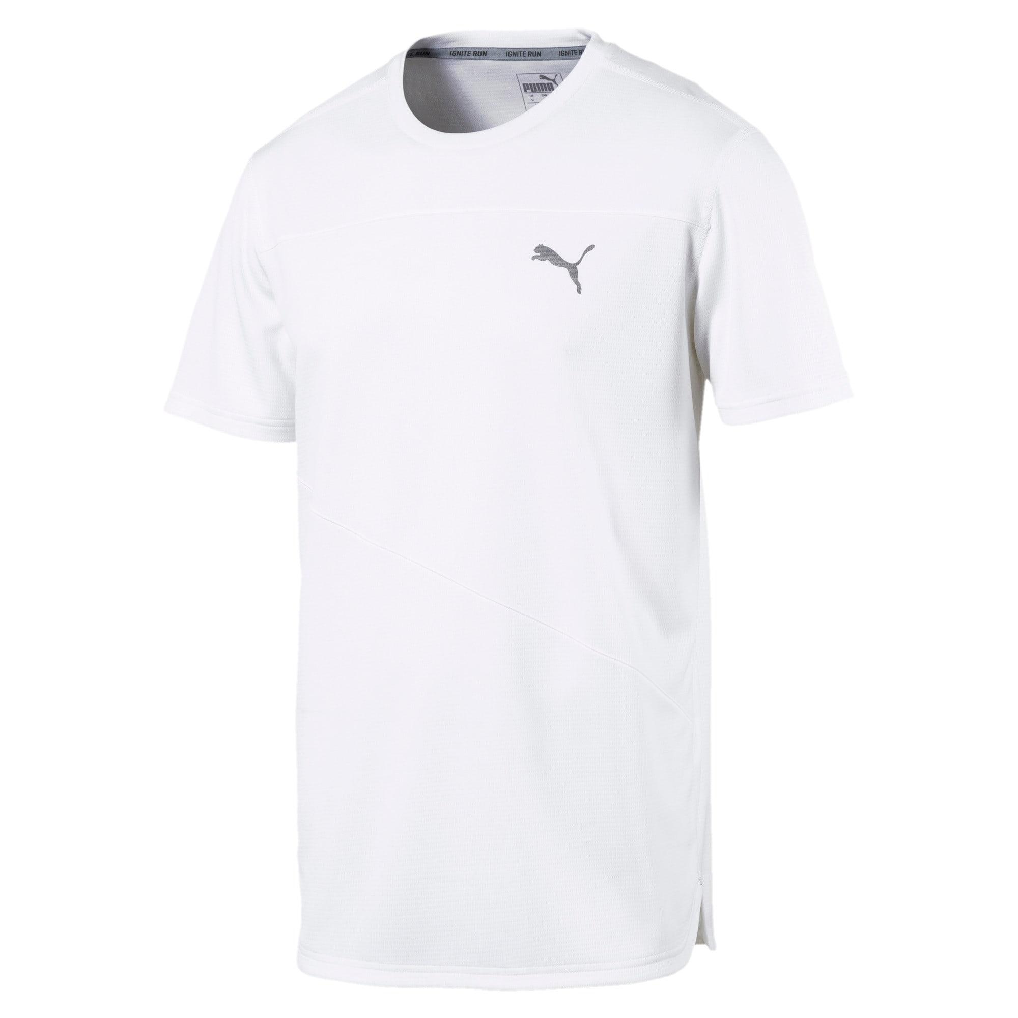 Thumbnail 4 of Running Men's IGNITE Mono T-Shirt, Puma White, medium-IND
