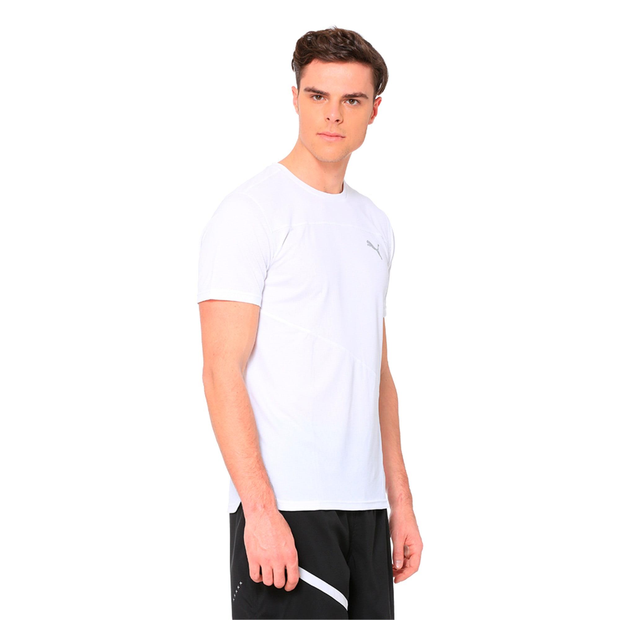 Thumbnail 2 of Running Men's IGNITE Mono T-Shirt, Puma White, medium-IND