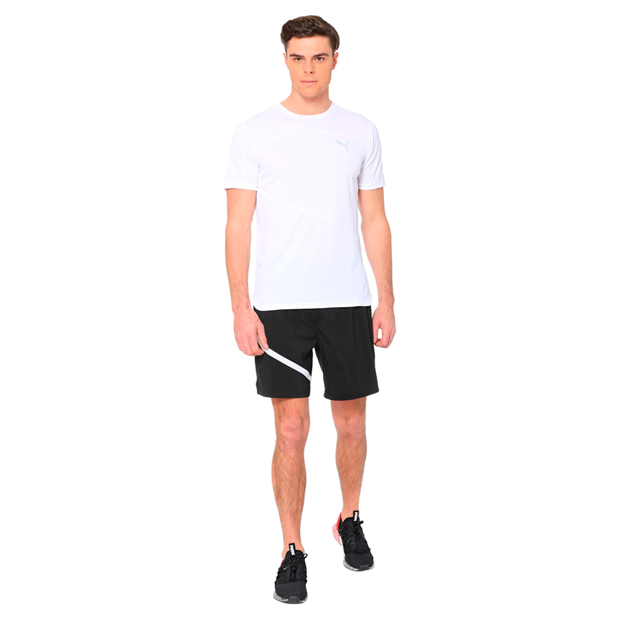 Thumbnail 3 of Running Men's IGNITE Mono T-Shirt, Puma White, medium-IND