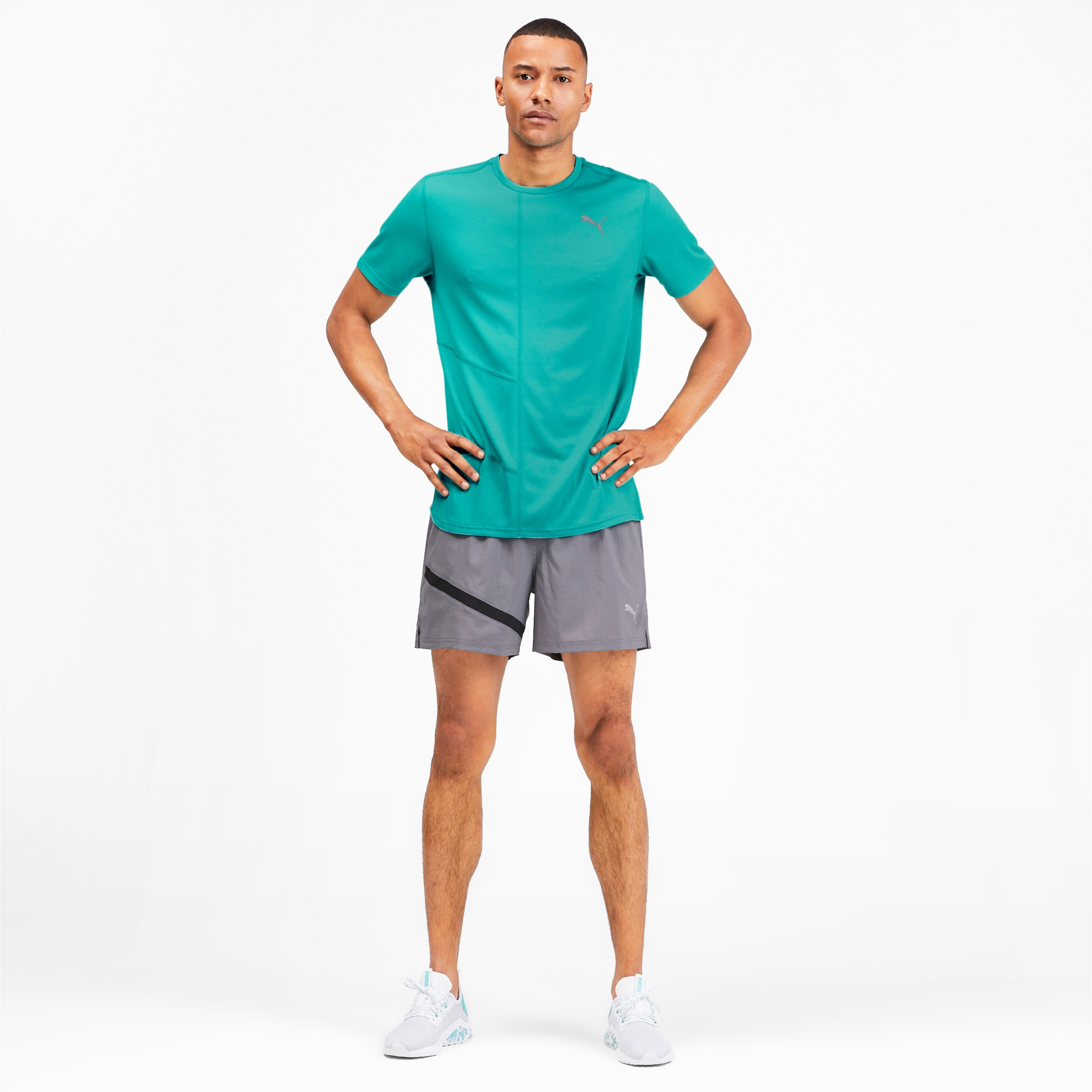 Thumbnail 3 of IGNITE Men's Running T-Shirt, Blue Turquoise, medium