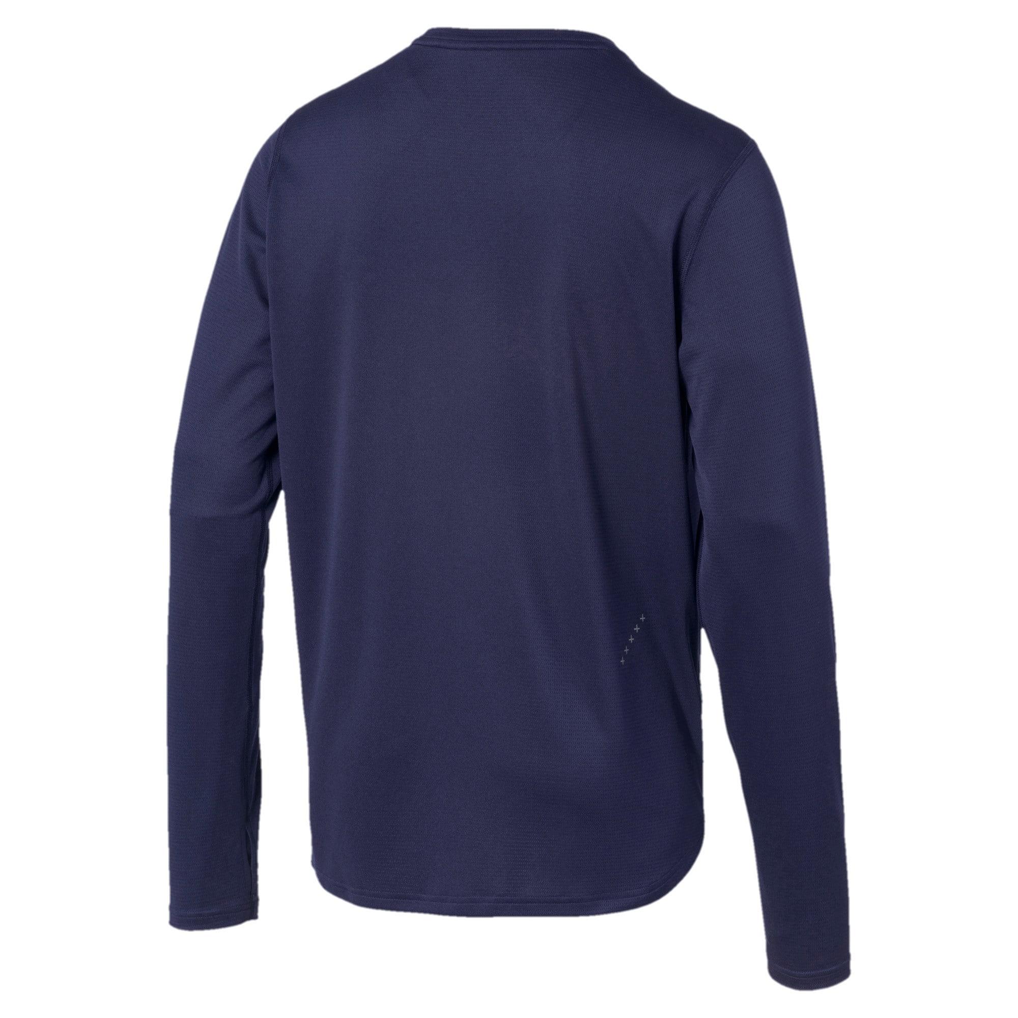 Thumbnail 5 of Ignite Men's Long Sleeve Tee, Peacoat-Blue Turquoise, medium