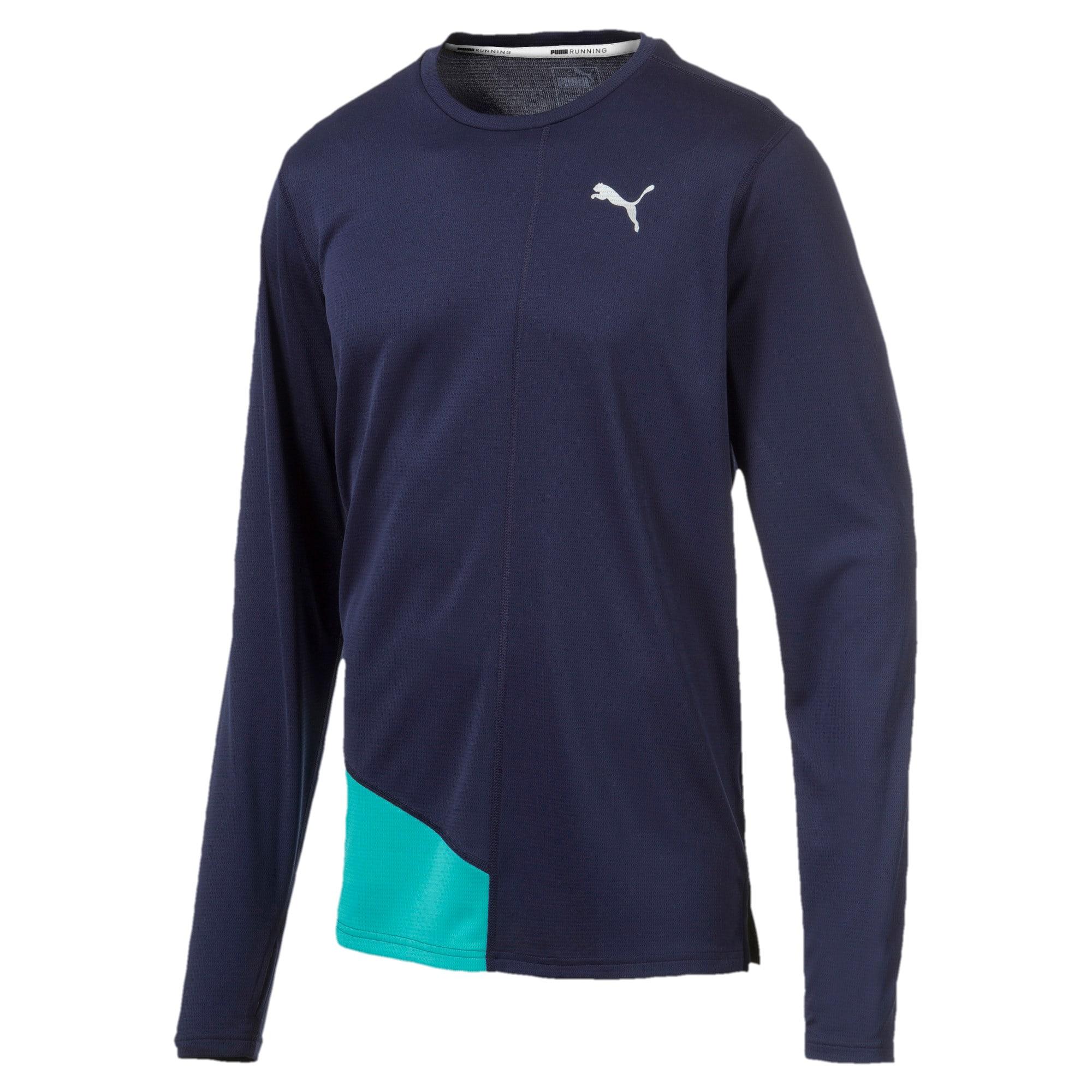 Thumbnail 4 van IGNITE T-shirt met lange mouwen voor mannen, Peacoat-blauwturquoise, medium