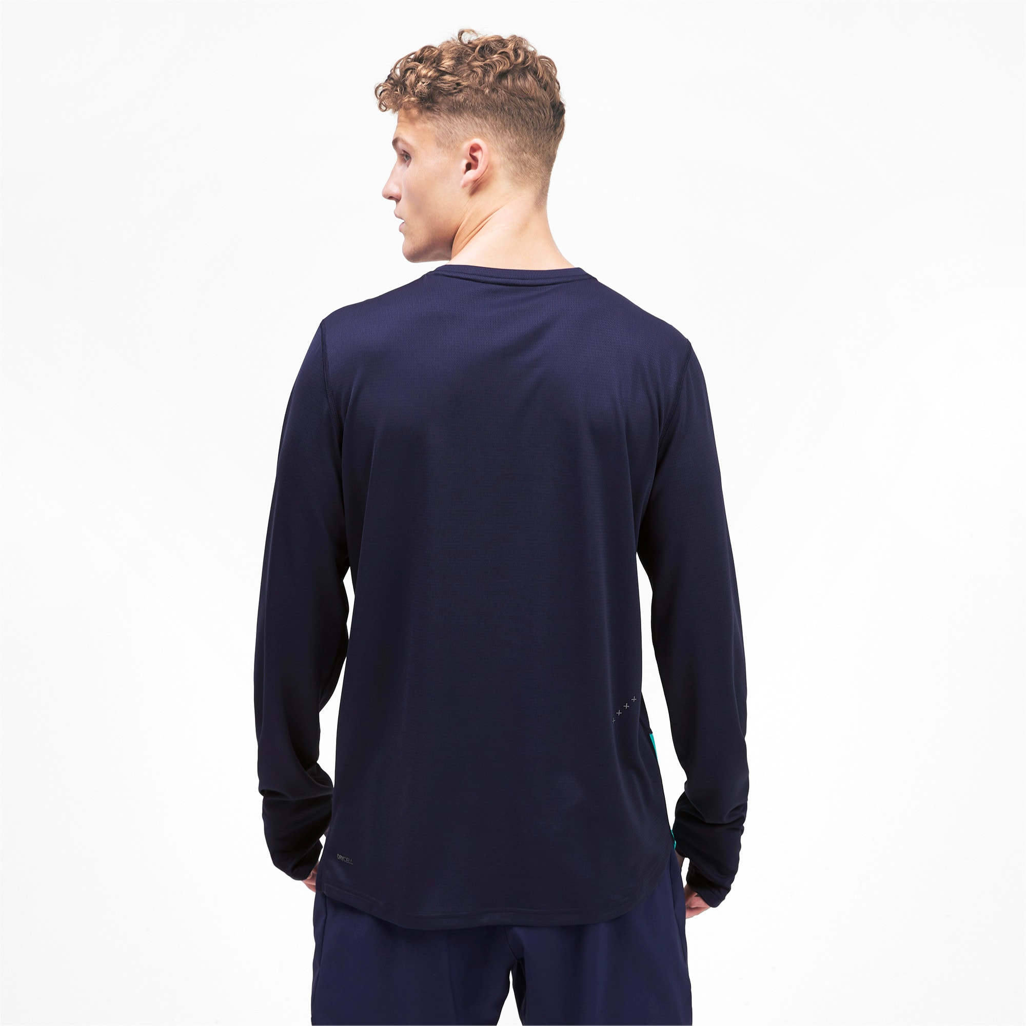 Thumbnail 2 of Ignite Men's Long Sleeve Tee, Peacoat-Blue Turquoise, medium