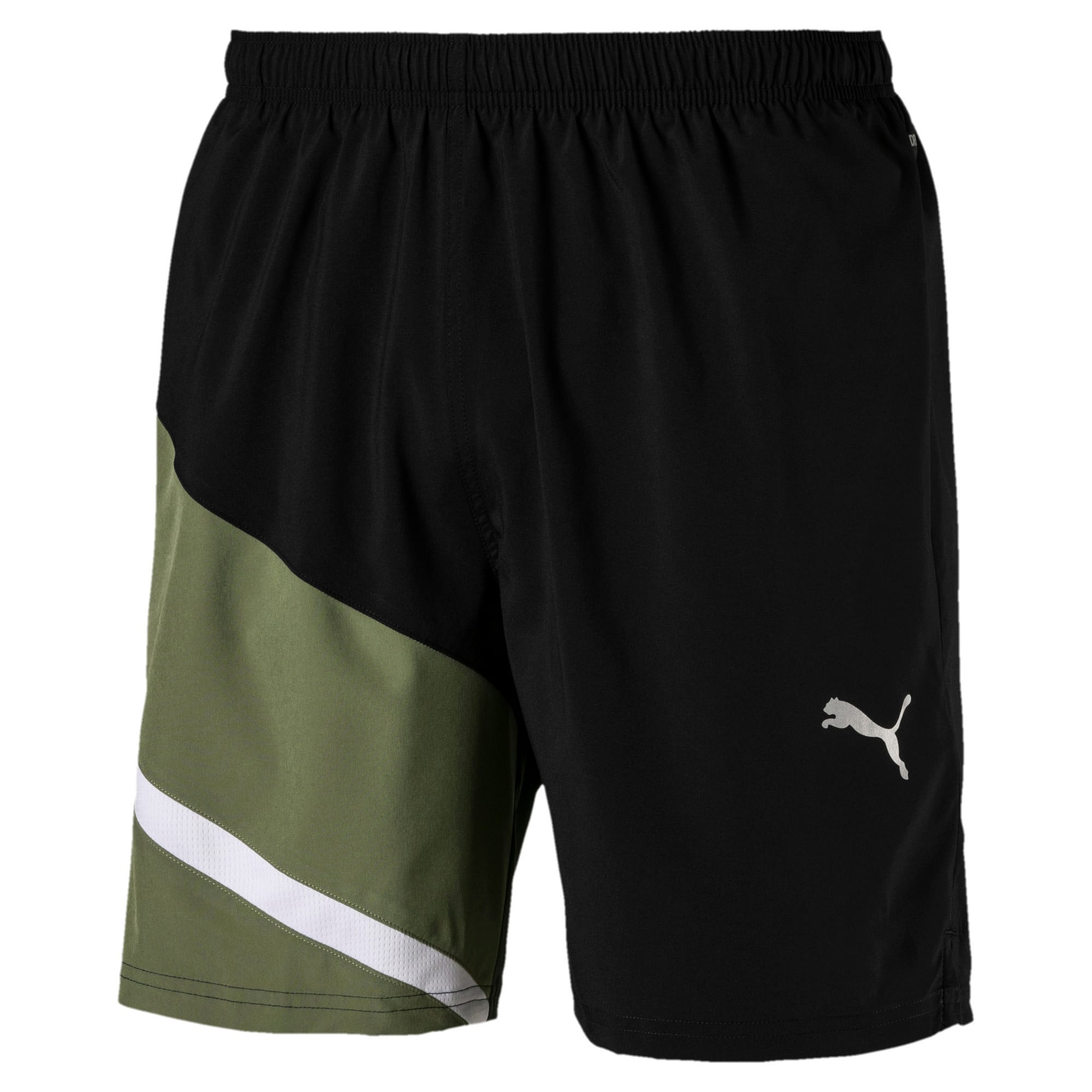 Thumbnail 4 van Geweven IGNITE trainingsshort voor mannen, Puma Black-Olivine, medium