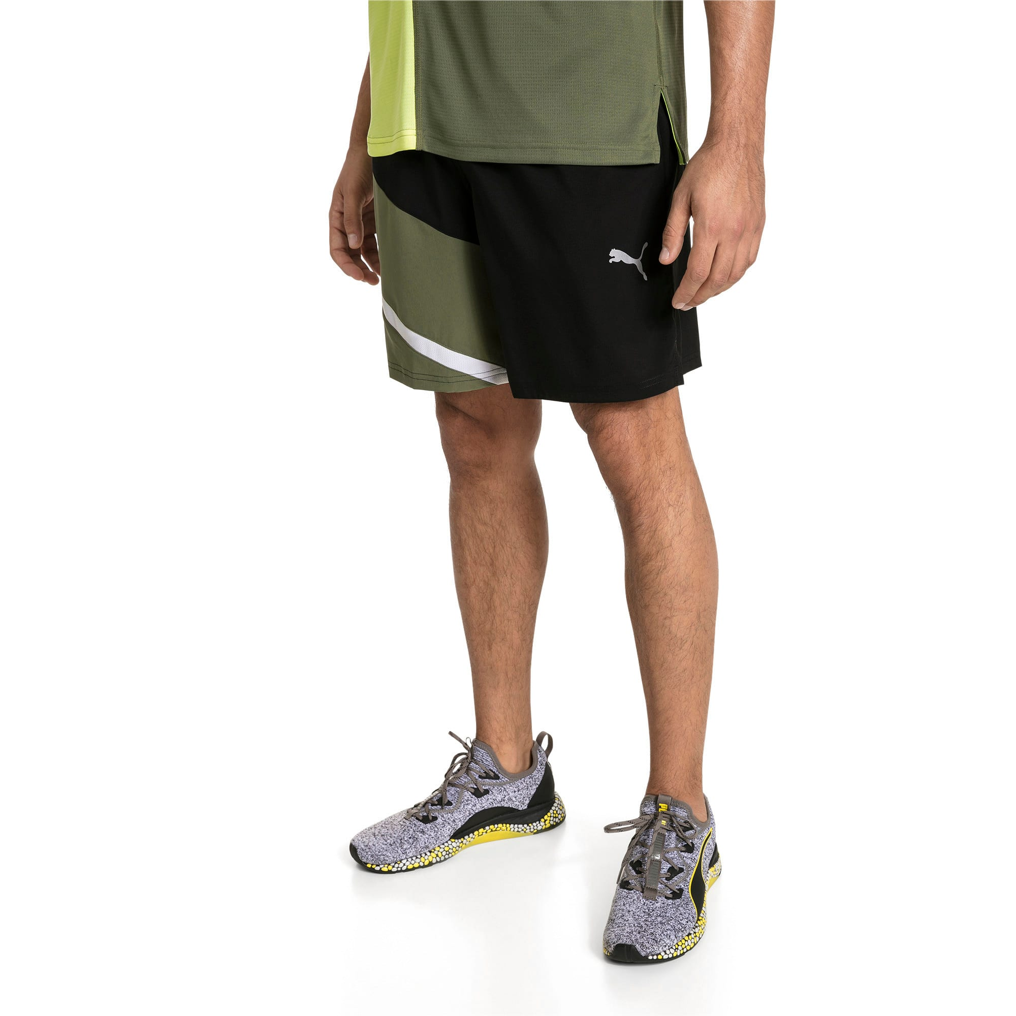 Thumbnail 1 van Geweven IGNITE trainingsshort voor mannen, Puma Black-Olivine, medium