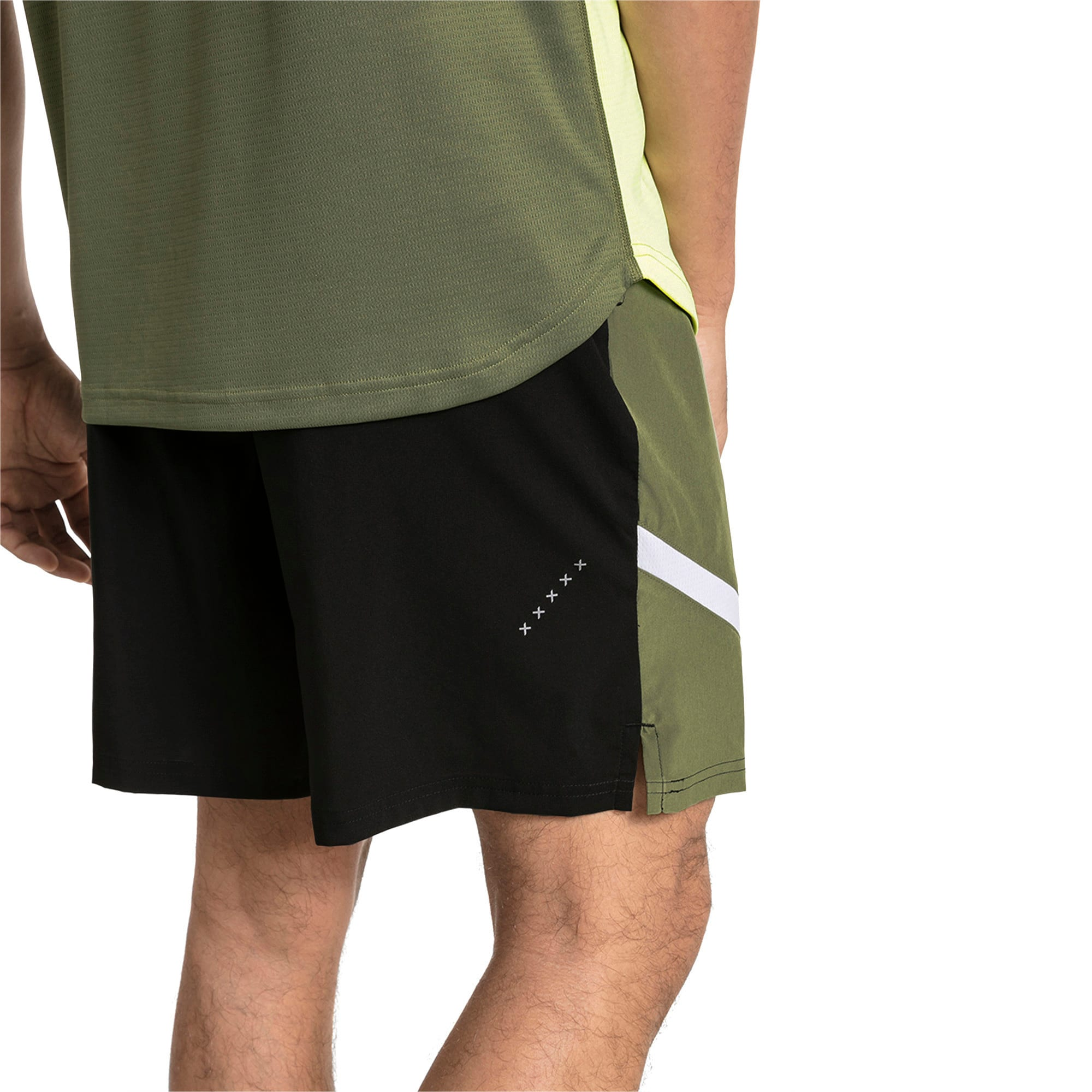 Thumbnail 2 van Geweven IGNITE trainingsshort voor mannen, Puma Black-Olivine, medium