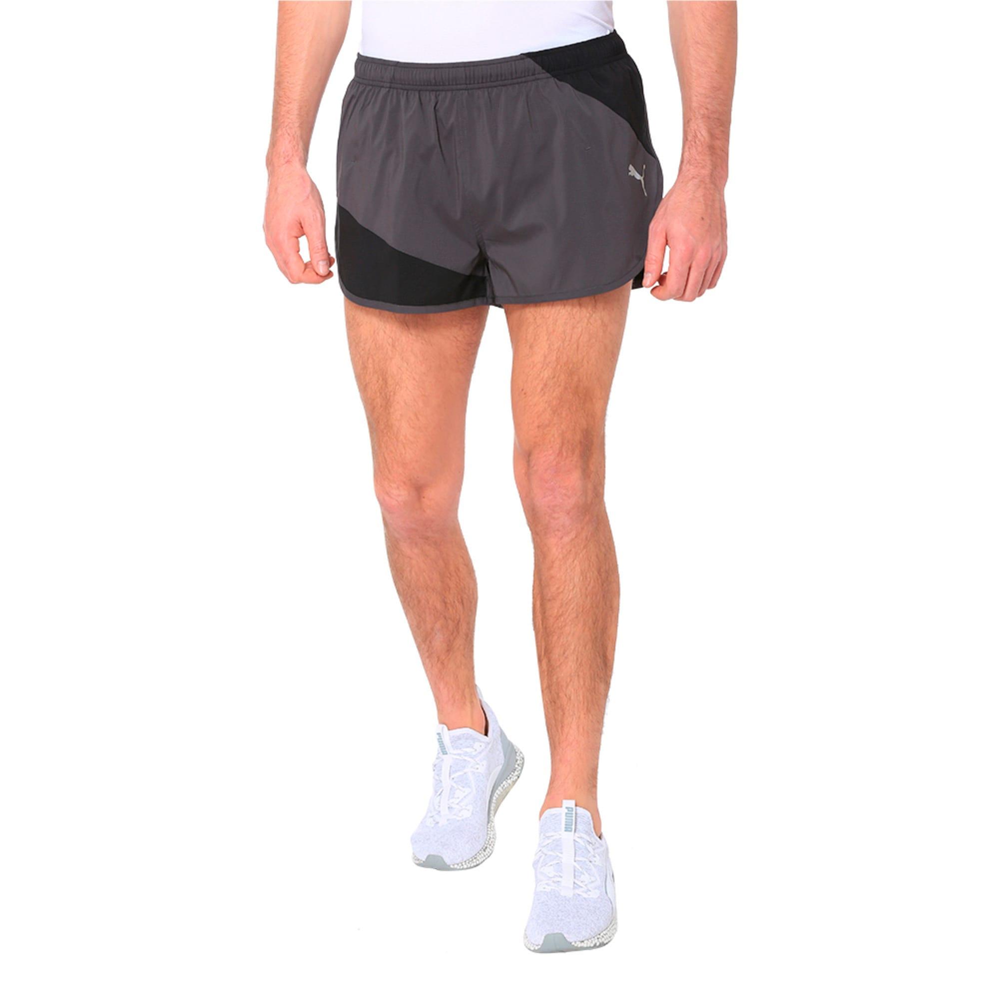 Thumbnail 1 of IGNITE Men's Running Split Shorts, Puma Black-Asphalt, medium-IND