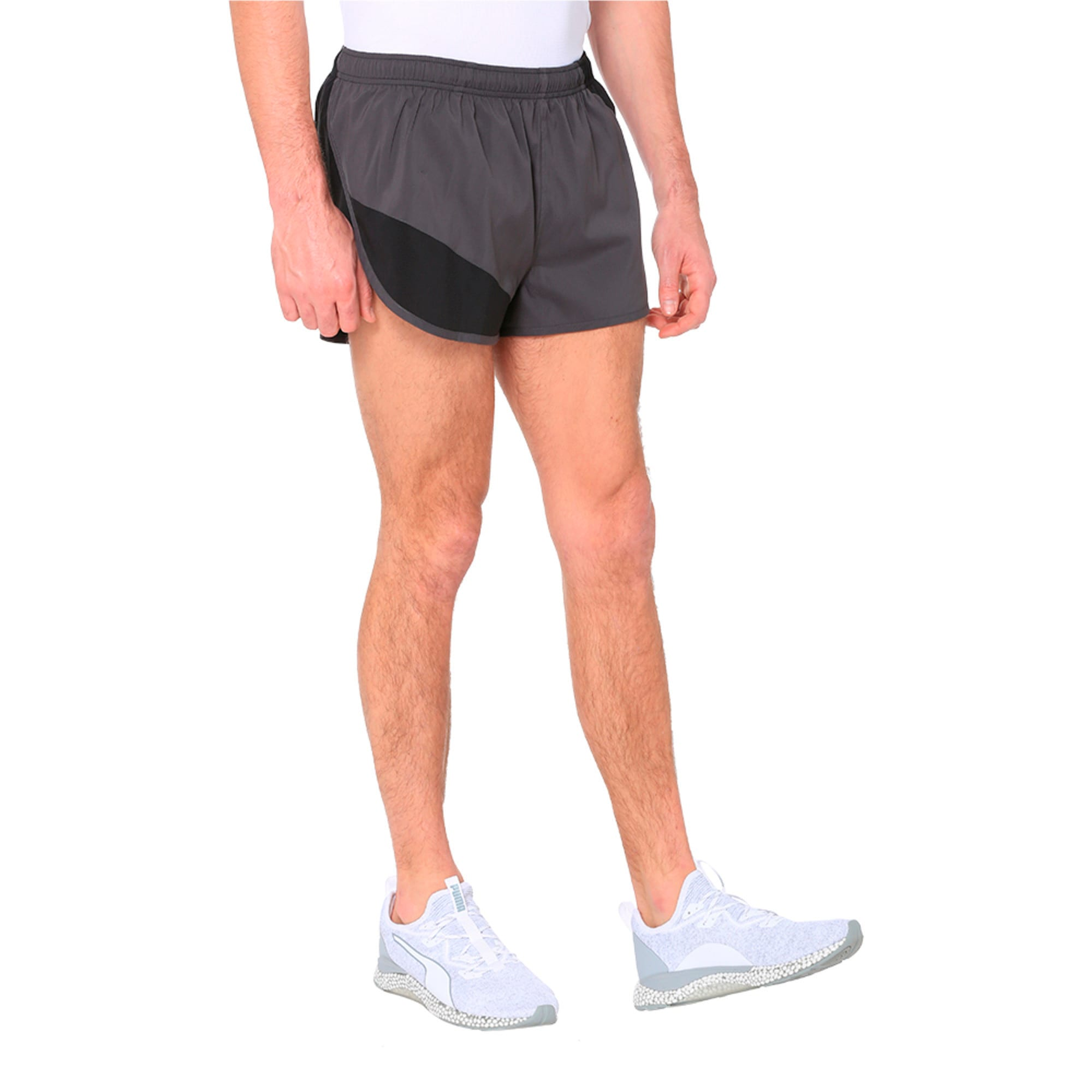 Thumbnail 2 of IGNITE Men's Running Split Shorts, Puma Black-Asphalt, medium-IND