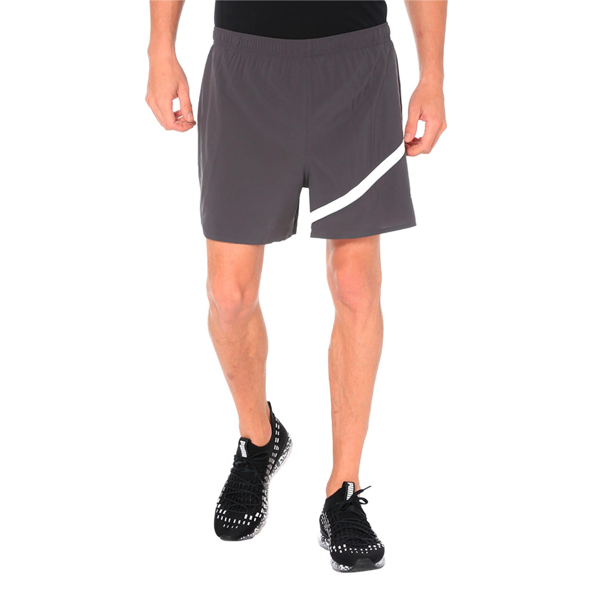 """Thumbnail 4 of Pace 5"""" Men's Running Shorts, Asphalt, medium-IND"""