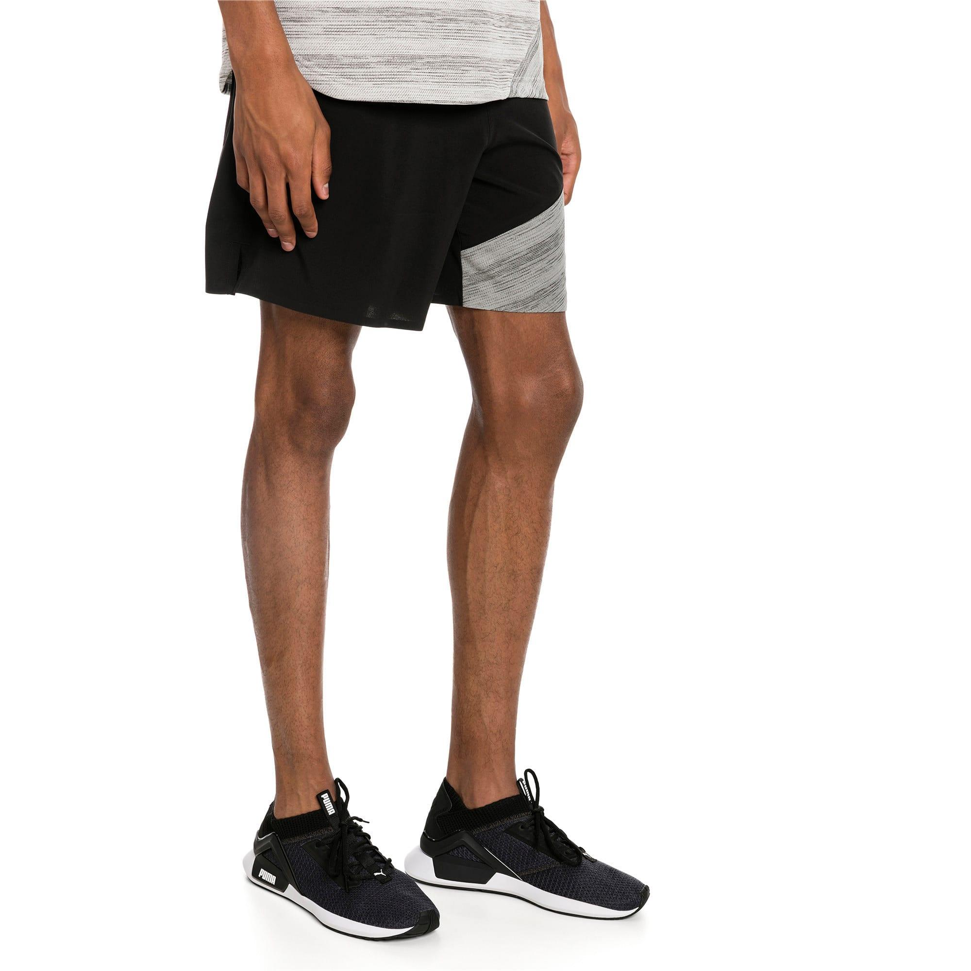 """Thumbnail 1 of Pace 7"""" 2 in 1 Men's Running Shorts, Puma Black-Medium Gry Hthr, medium-IND"""