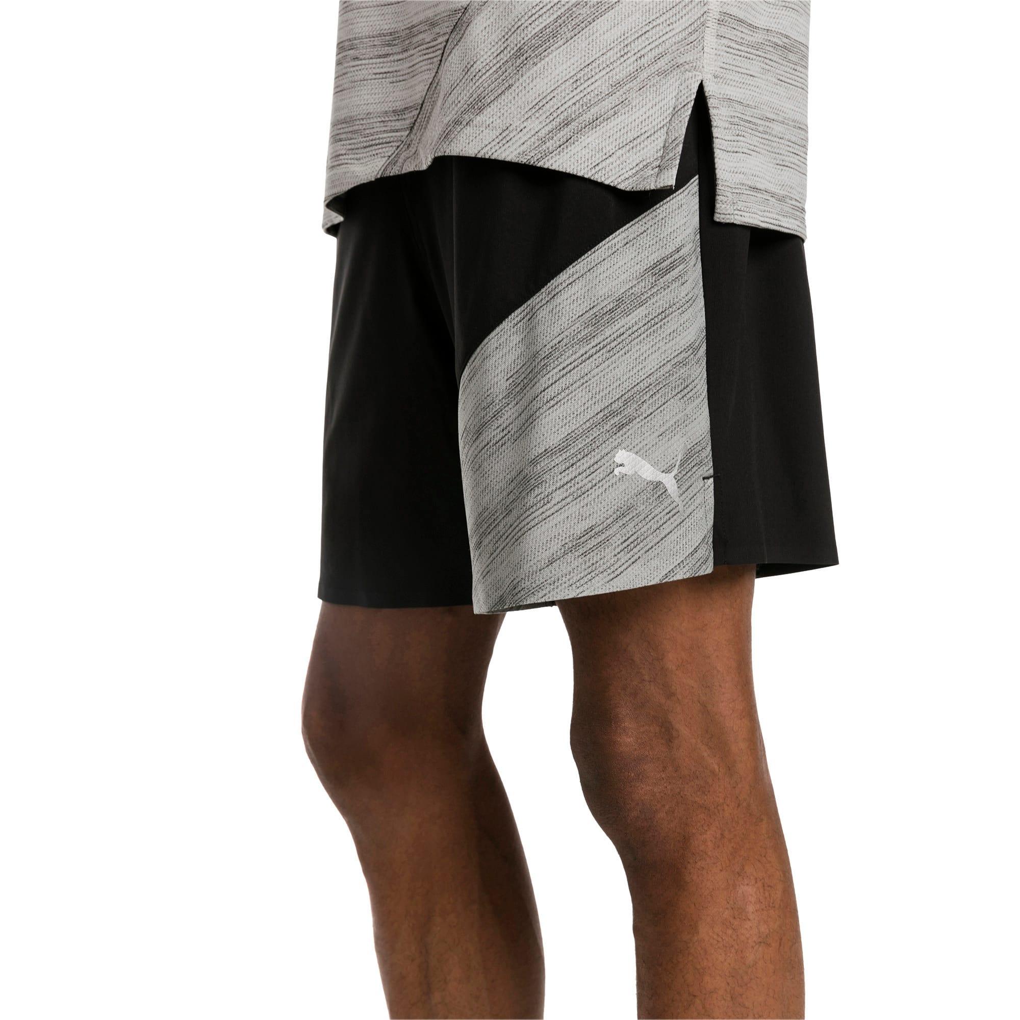 """Thumbnail 4 of Pace 7"""" 2 in 1 Men's Running Shorts, Puma Black-Medium Gry Hthr, medium-IND"""