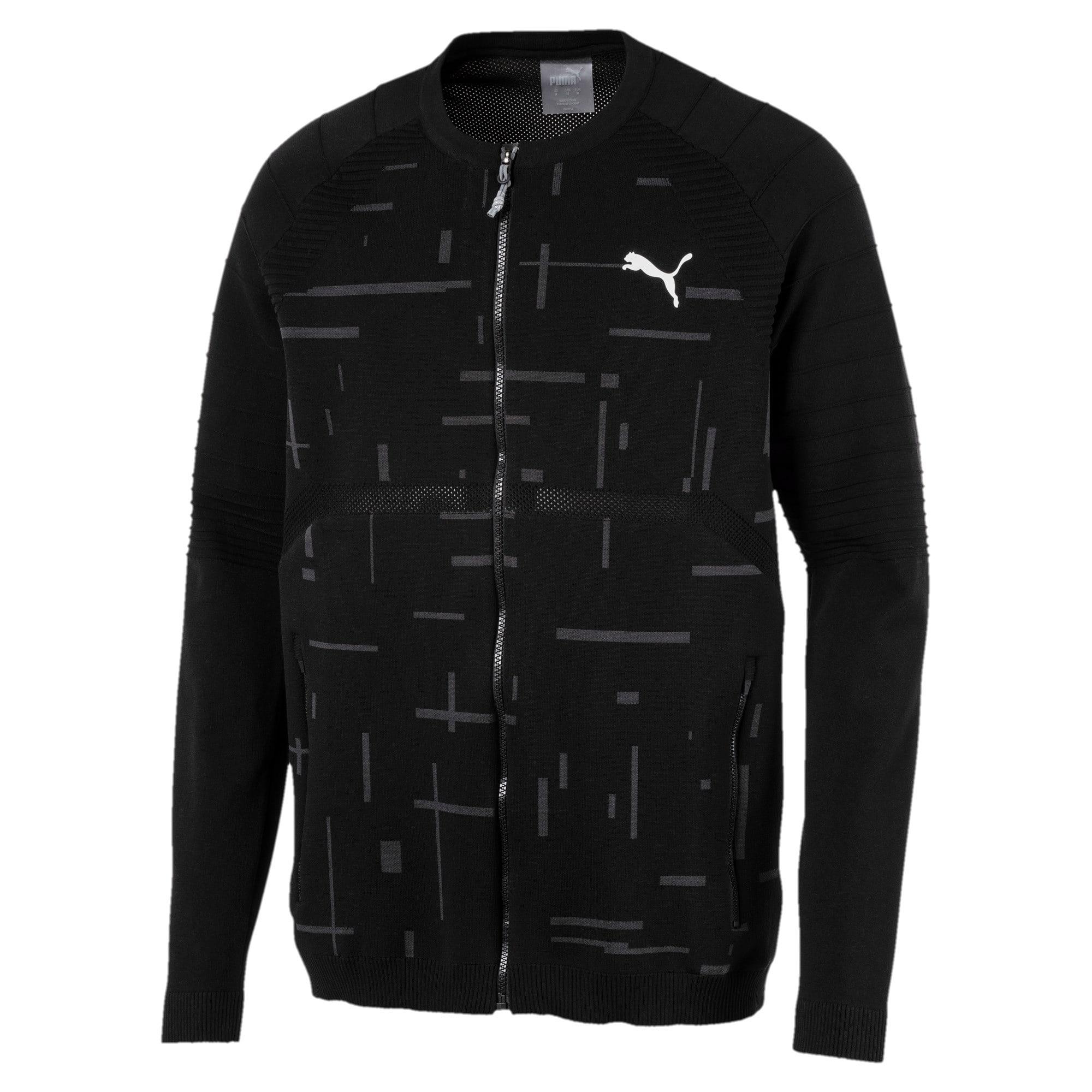 Thumbnail 3 of Energy evoKNIT Full Zip Men's Training Jacket, Puma Black, medium-IND