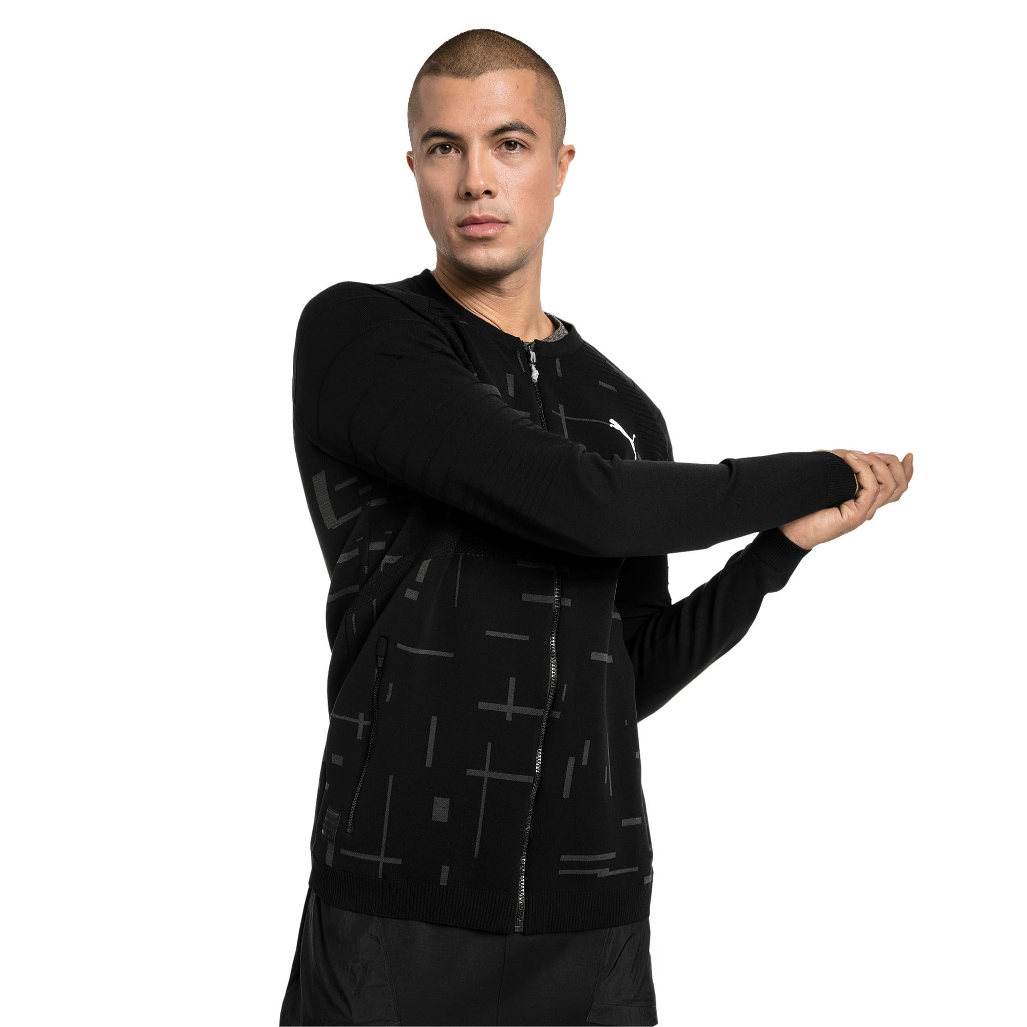Thumbnail 1 of Energy evoKNIT Full Zip Men's Training Jacket, Puma Black, medium-IND