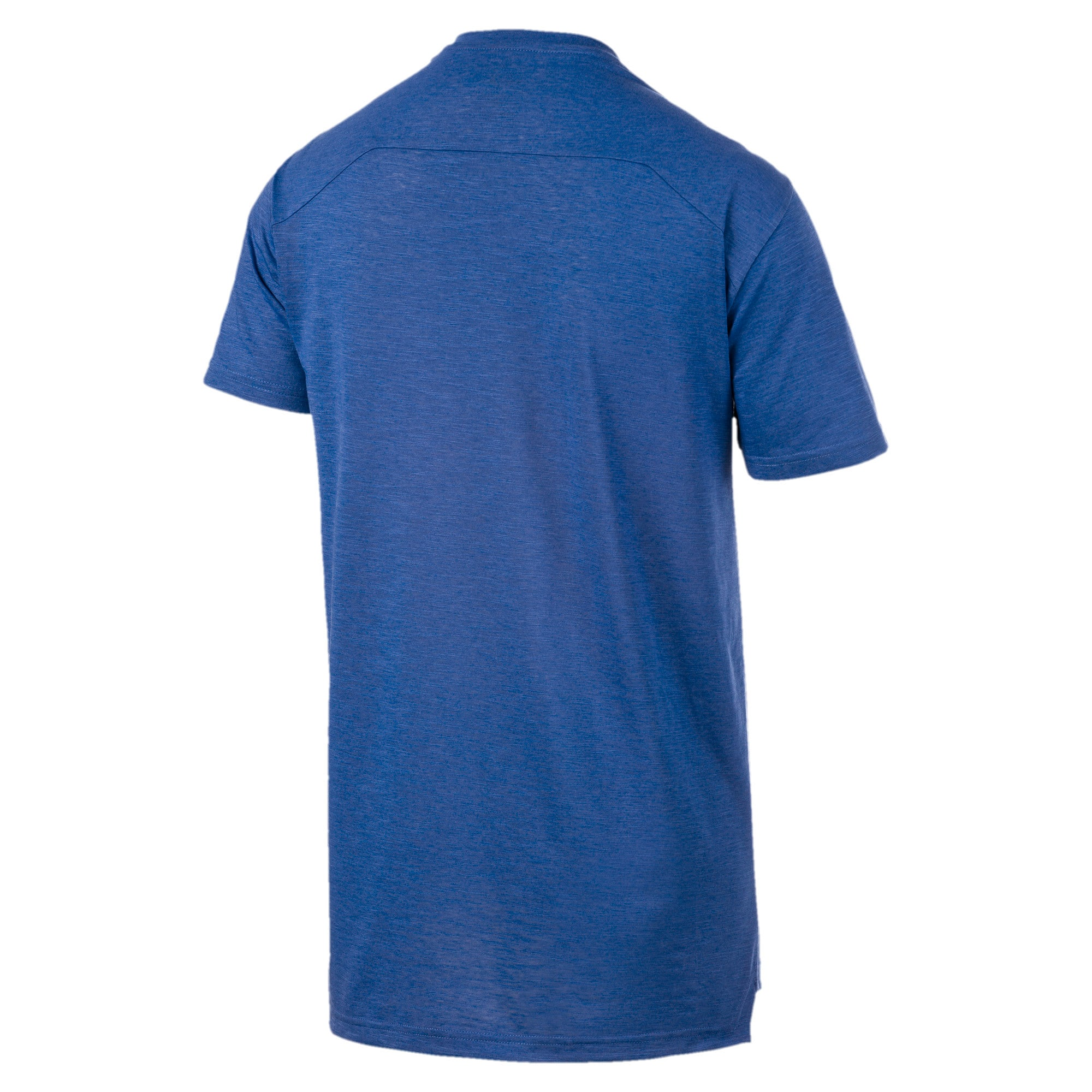 Energy Short Sleeve Men's Training Tee, Galaxy Blue Heather, large-IND