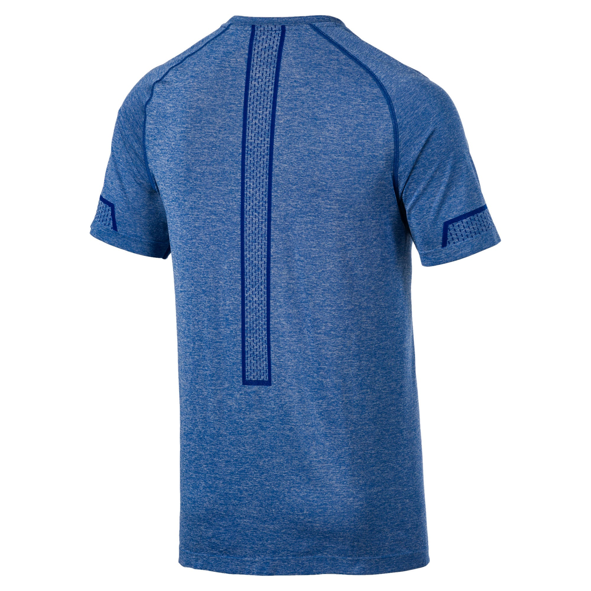 Naadloos Energy trainingsshirt voor heren, Galaxy Blue Heather, large