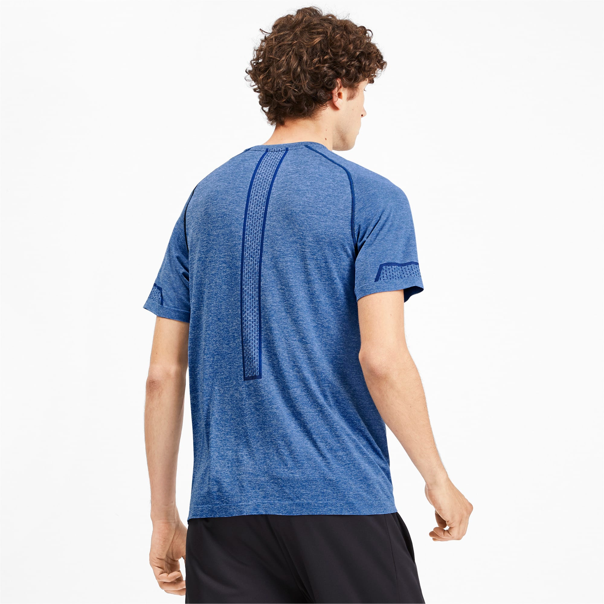 Thumbnail 2 of Energy Seamless Men's Training Tee, Galaxy Blue Heather, medium