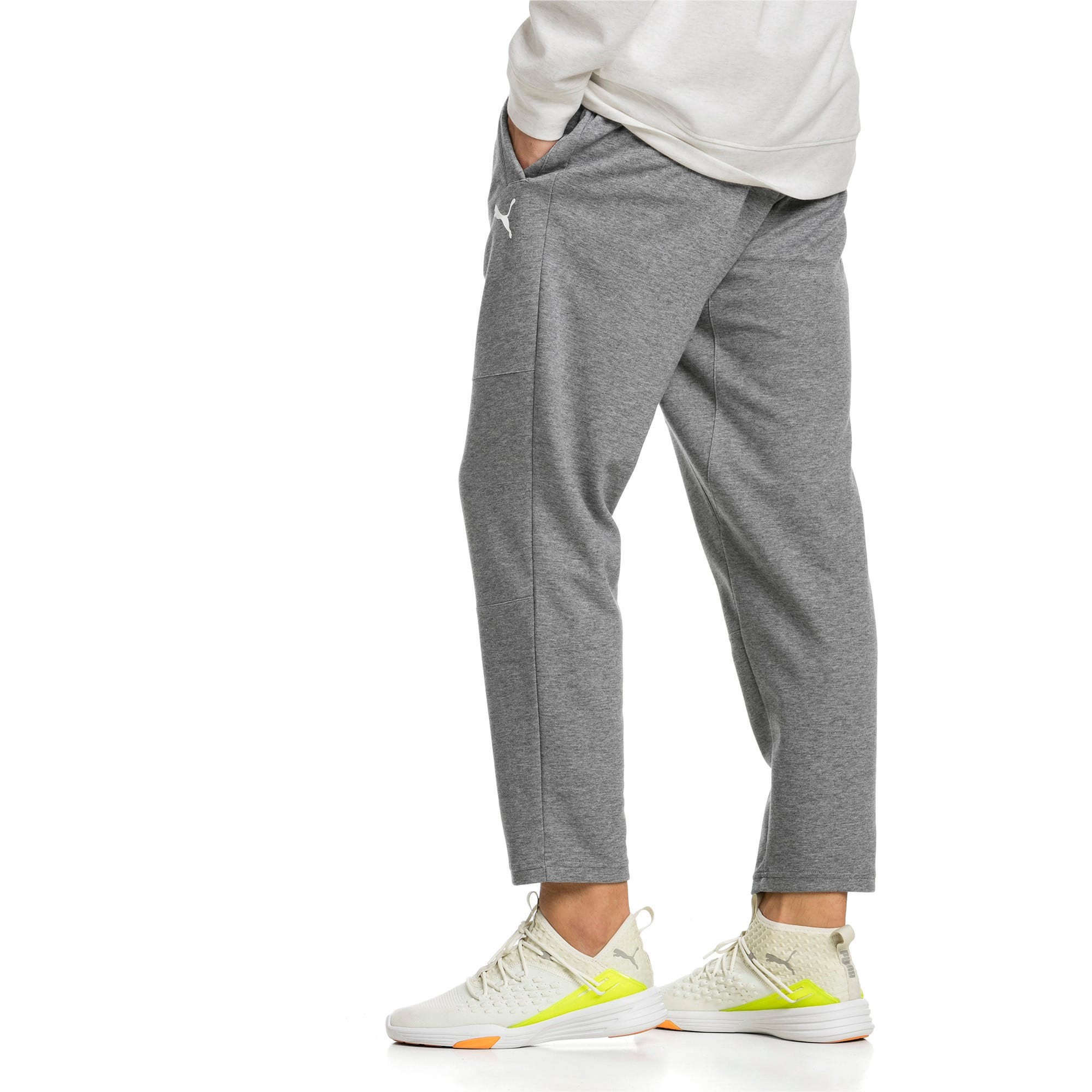 Thumbnail 2 of Knitted Men's Training Pants, Charcoal Gray Heather, medium-IND