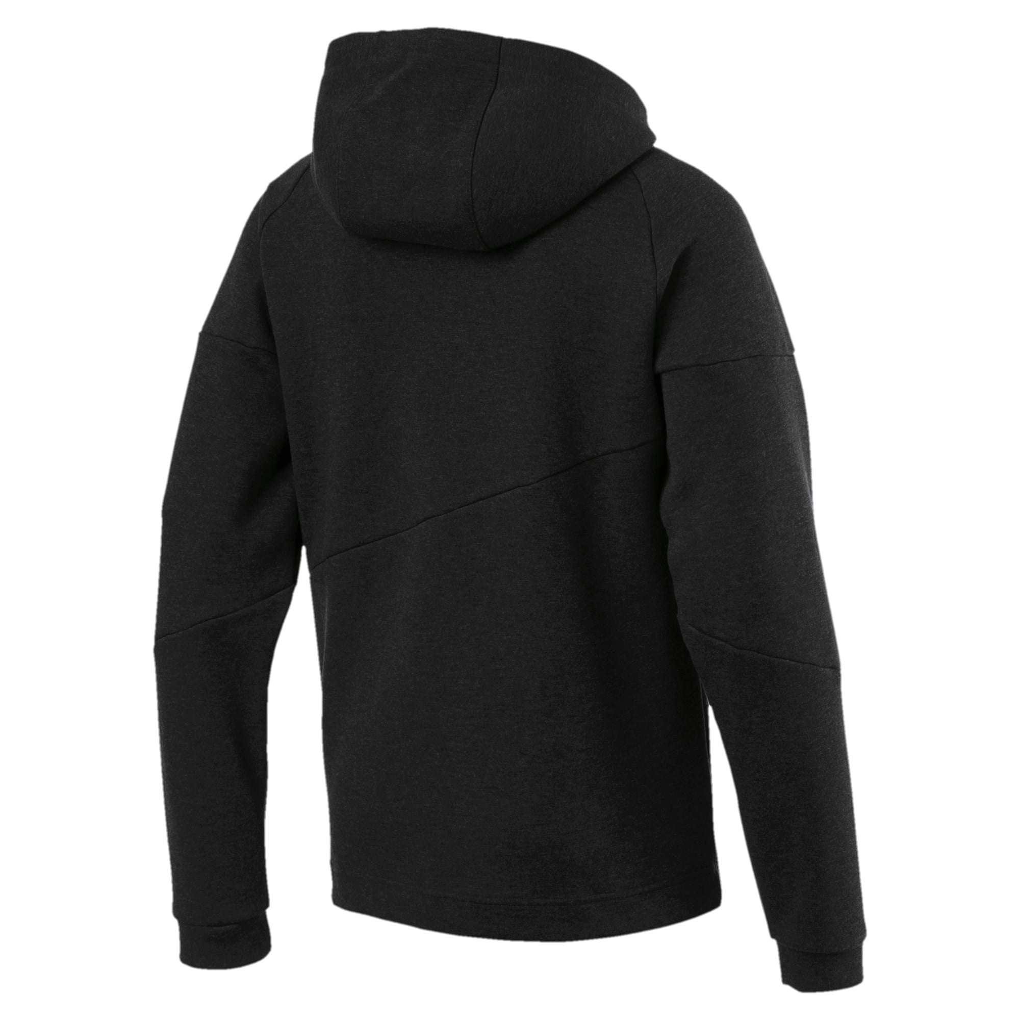Thumbnail 6 of BND Tech Second Layer Knitted Hooded Men's Jacket, Puma Black Heather, medium-IND
