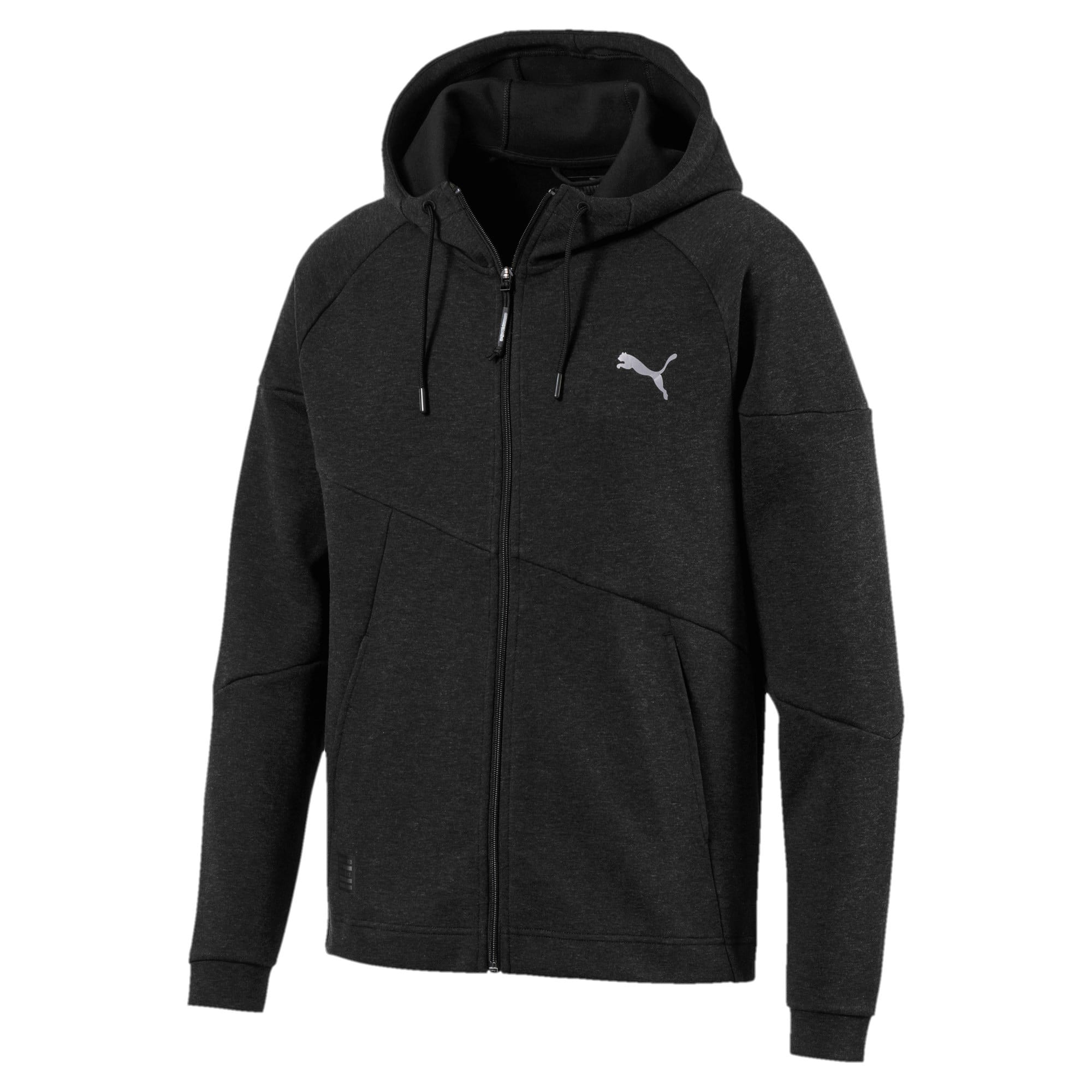 Thumbnail 5 of BND Tech Second Layer Knitted Hooded Men's Jacket, Puma Black Heather, medium-IND