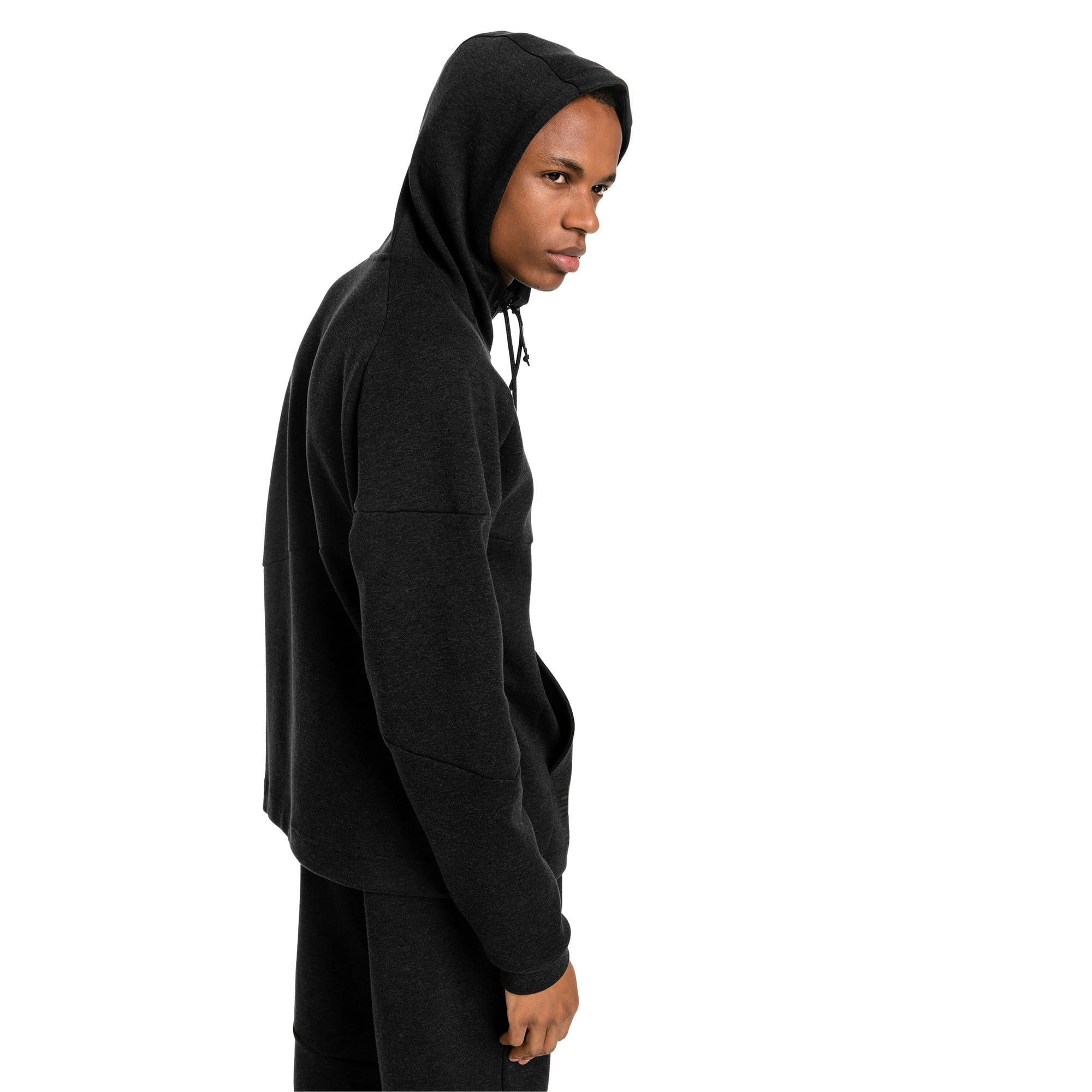 Thumbnail 2 of BND Tech Second Layer Knitted Hooded Men's Jacket, Puma Black Heather, medium-IND