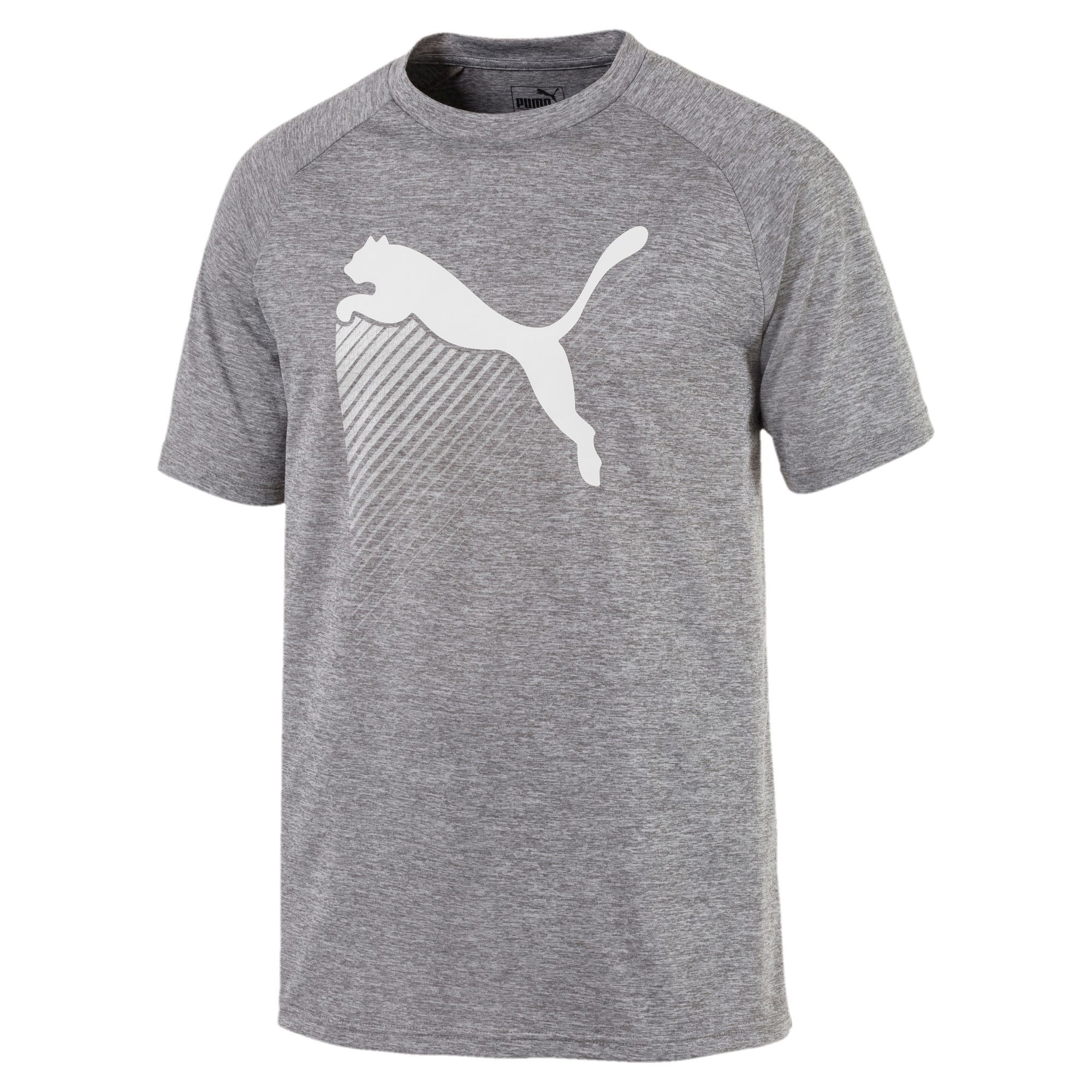 Thumbnail 3 of The CAT Heather Men's Training Tee, Charcoal Gray Heather, medium-IND