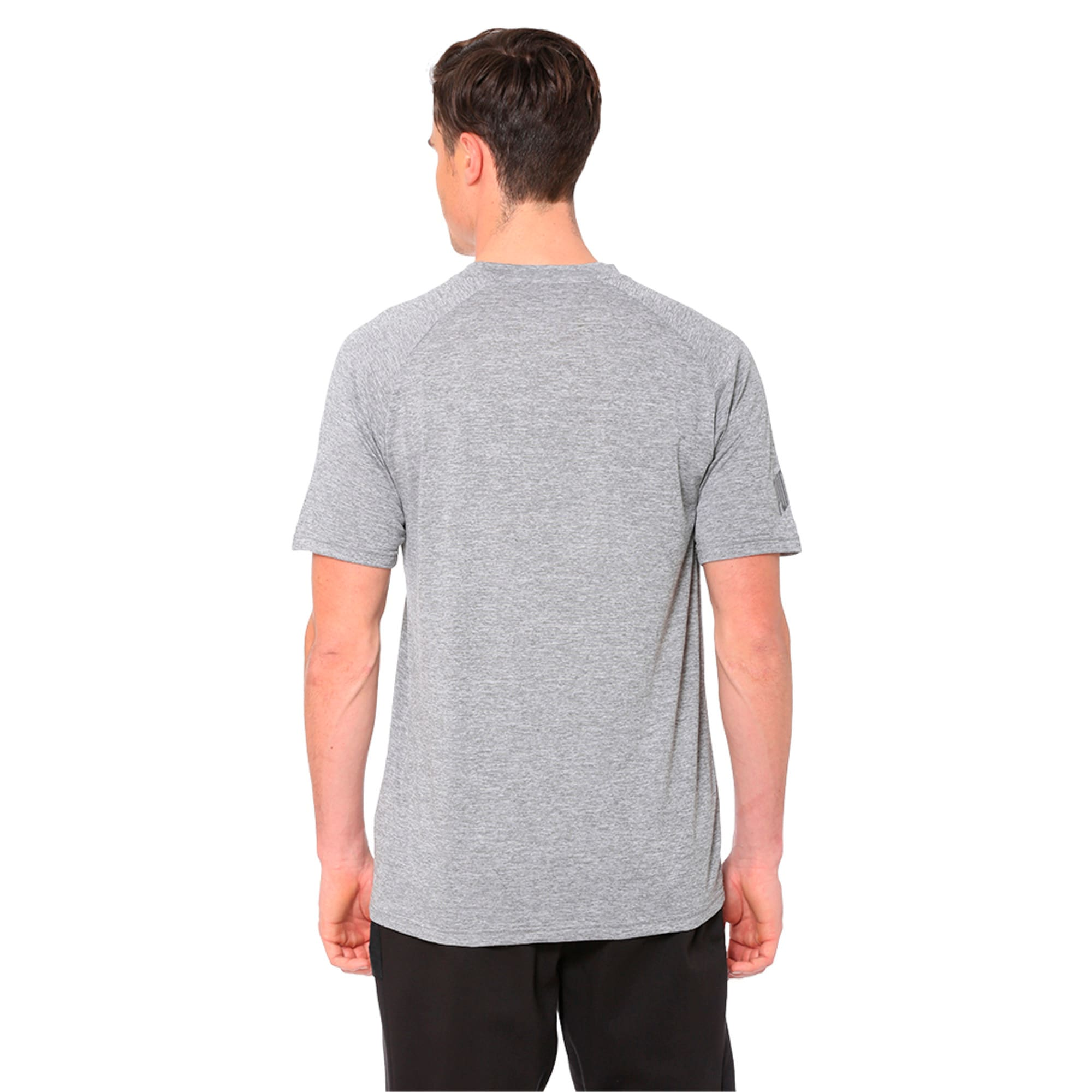 Thumbnail 2 of The CAT Heather Men's Training Tee, Charcoal Gray Heather, medium-IND