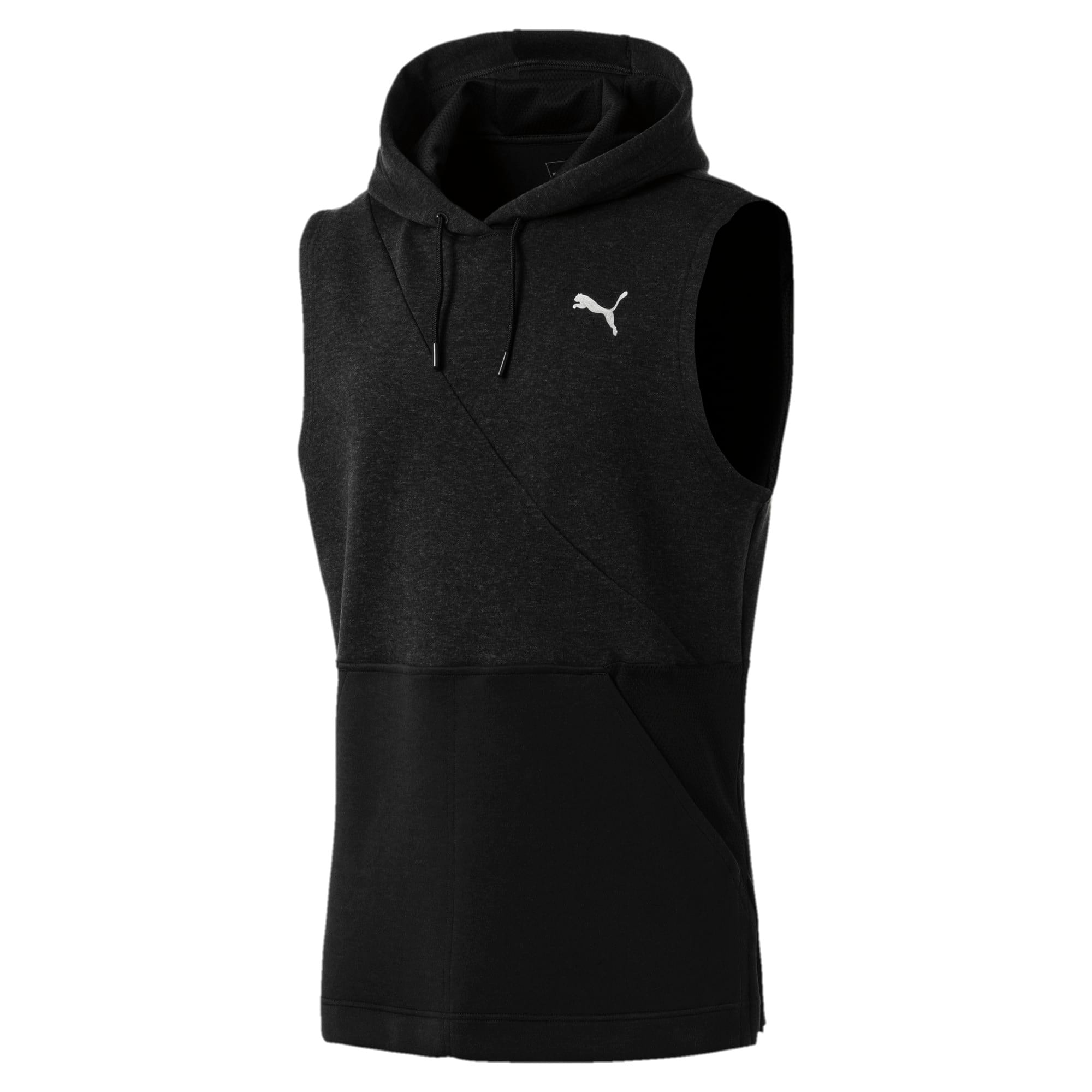 Thumbnail 4 of BND Ärmelloser Herren Trainings-Hoodie, Puma Black Heather, medium