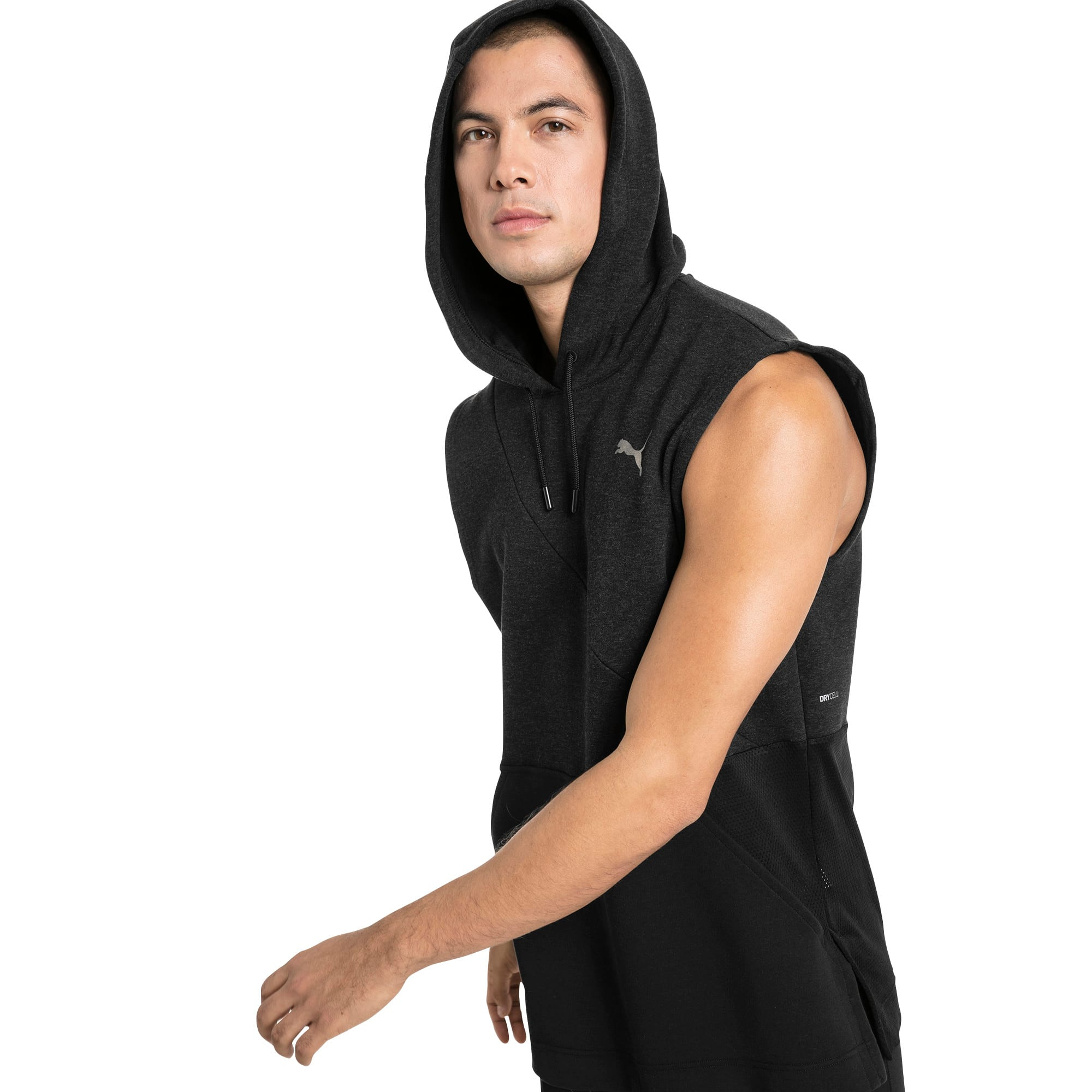 Thumbnail 1 of BND Ärmelloser Herren Trainings-Hoodie, Puma Black Heather, medium