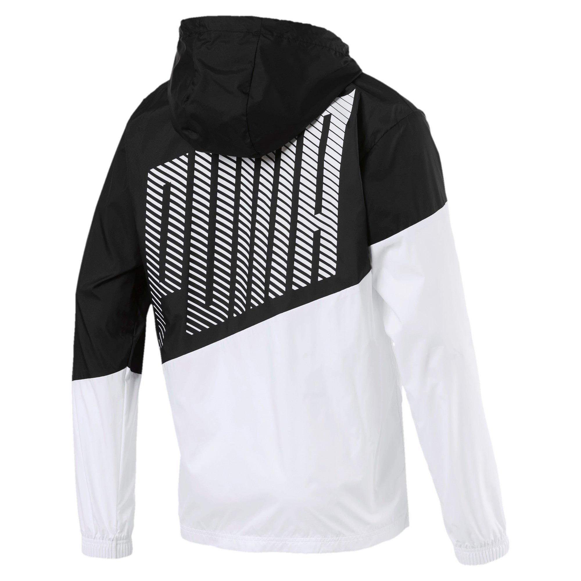 Thumbnail 6 of A.C.E. Men's Windbreaker, Puma Black-Puma White, medium