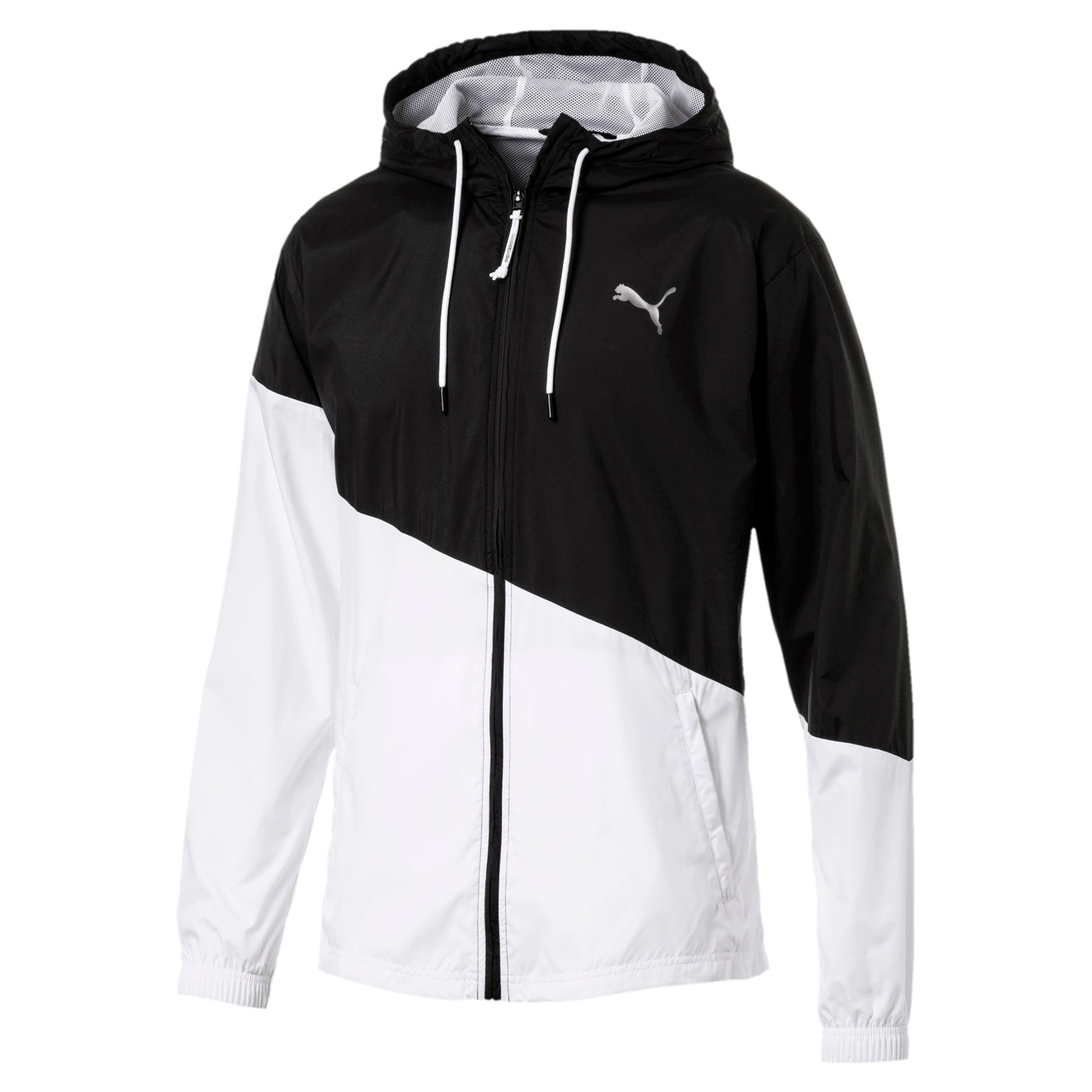 Thumbnail 5 of A.C.E. Men's Windbreaker, Puma Black-Puma White, medium