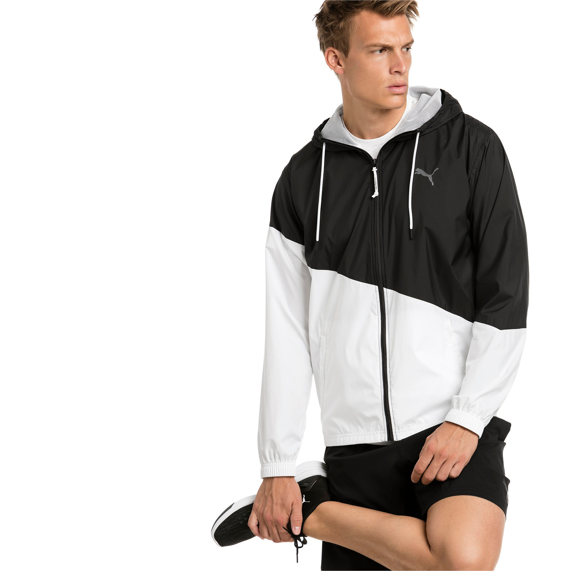 Thumbnail 1 of A.C.E. Men's Windbreaker, Puma Black-Puma White, medium