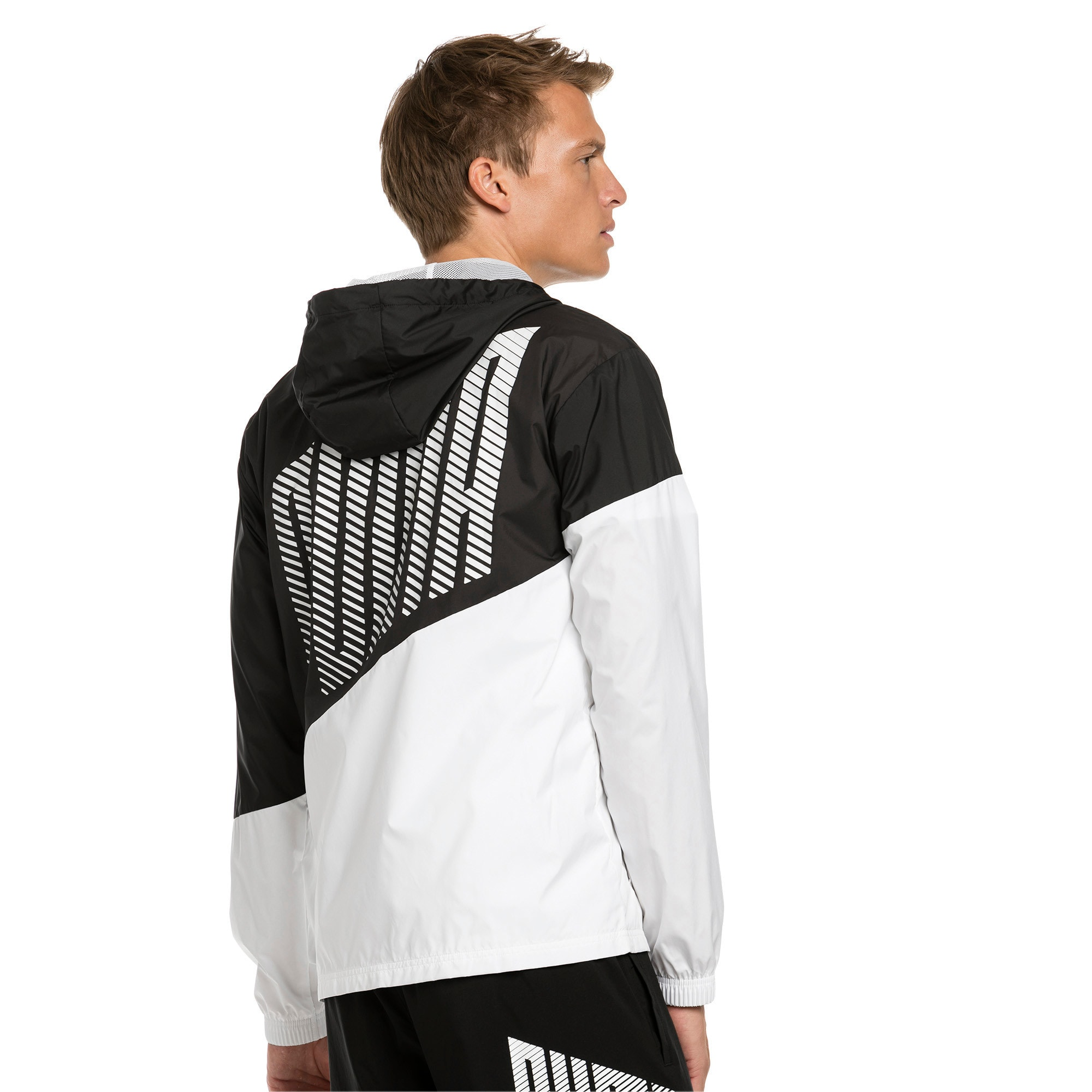 Thumbnail 2 of A.C.E. Men's Windbreaker, Puma Black-Puma White, medium