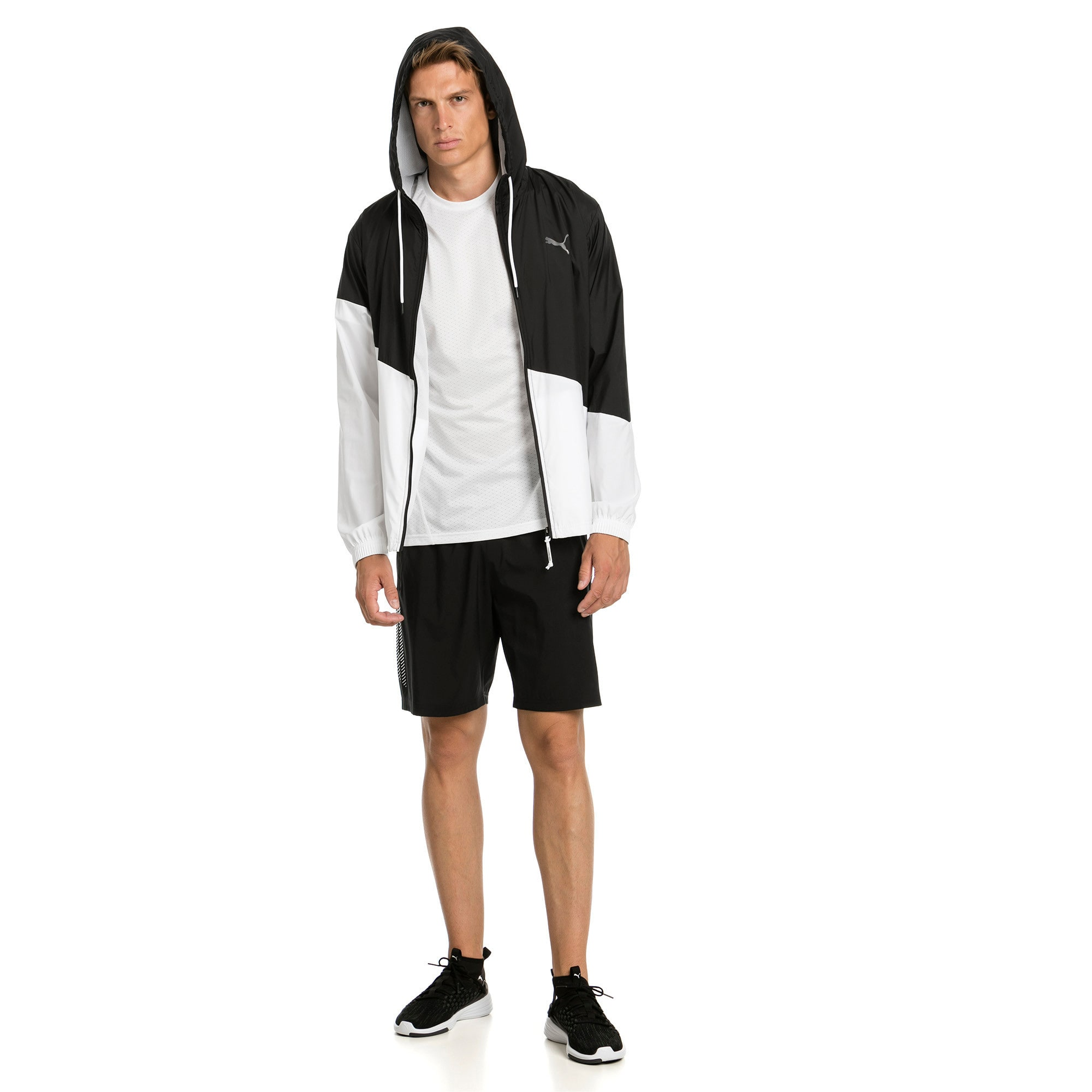 Thumbnail 3 of A.C.E. Men's Windbreaker, Puma Black-Puma White, medium