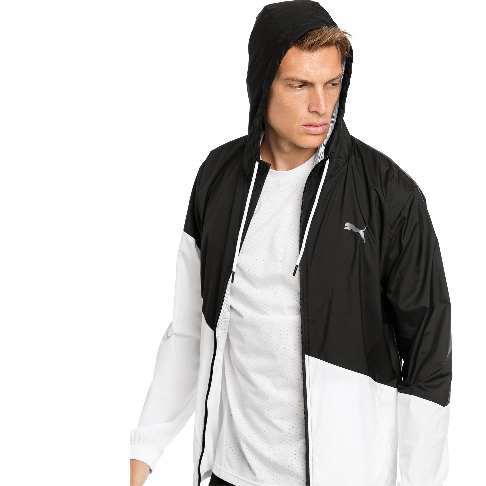 Thumbnail 4 of A.C.E. Men's Windbreaker, Puma Black-Puma White, medium