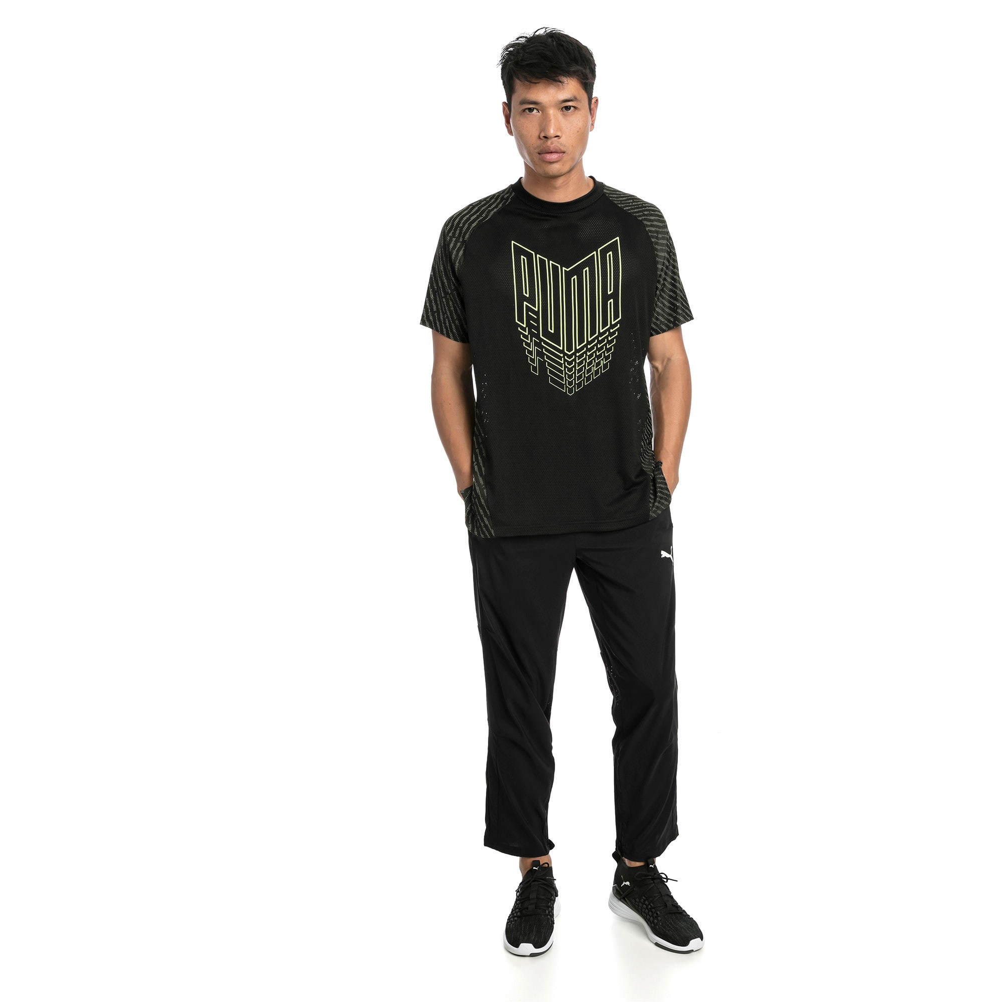 Thumbnail 3 of VENT Men's Training Tee, Puma Black, medium
