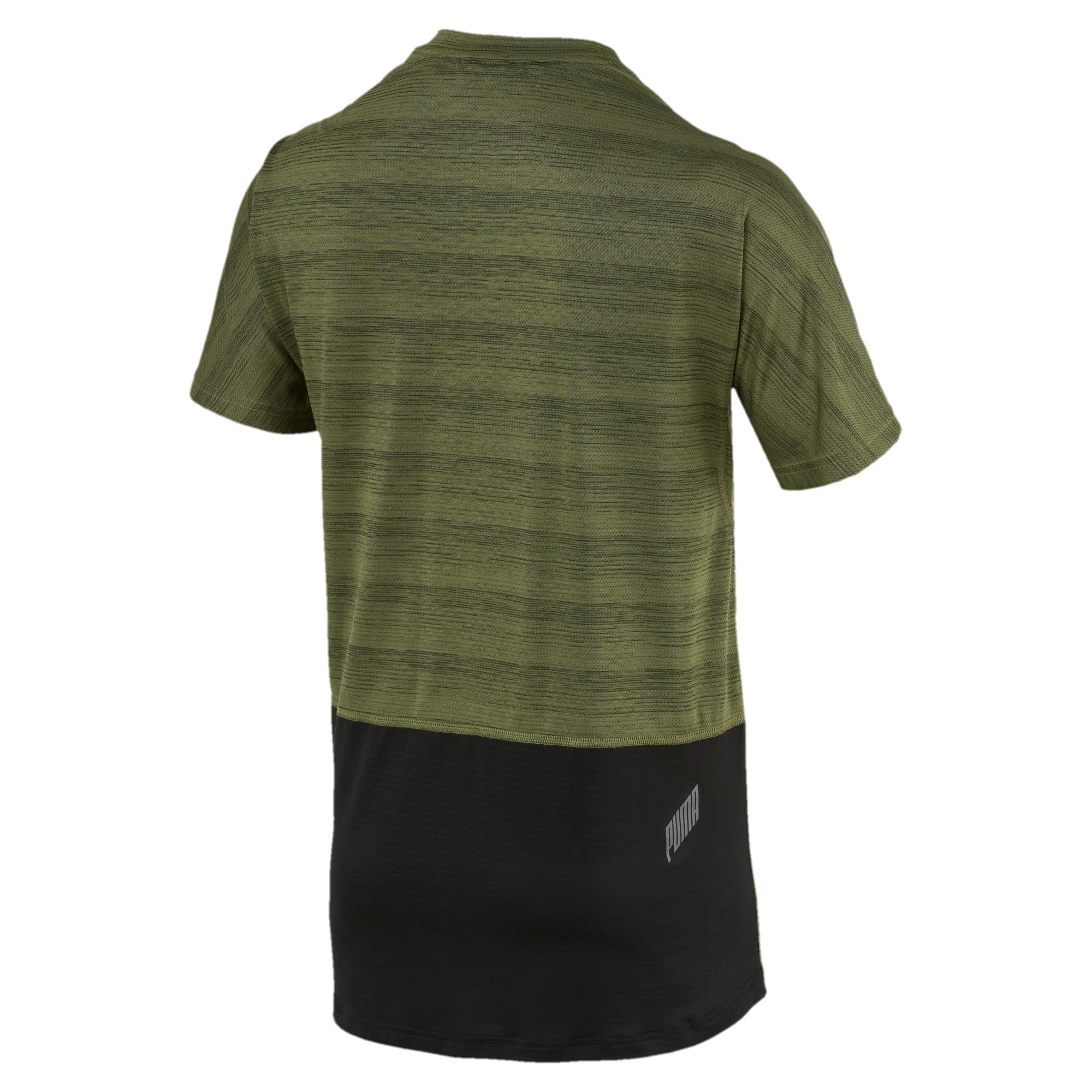 Thumbnail 2 of PACE Breeze Herren Running T-Shirt, Olivine-Puma Black, medium