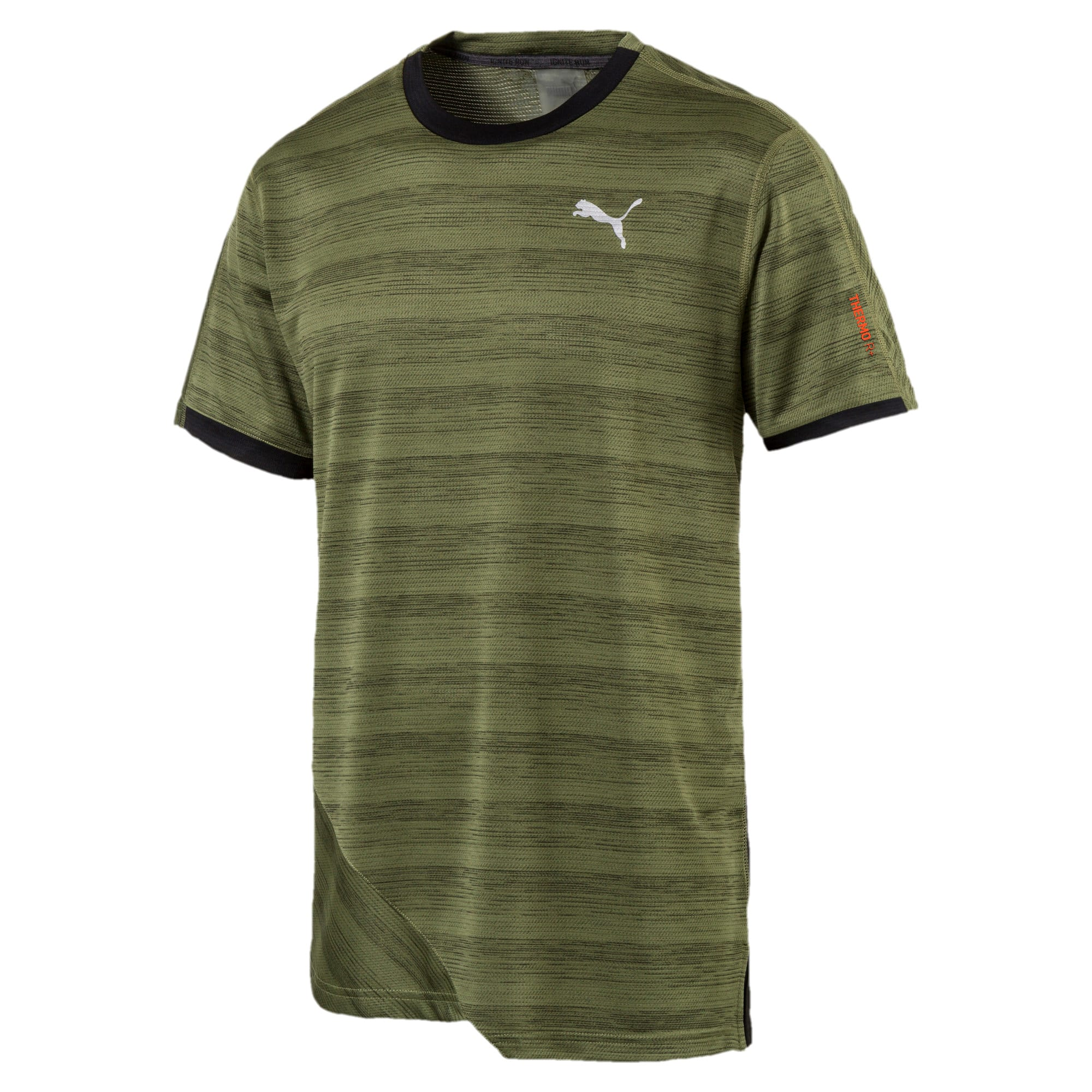 Thumbnail 1 of PACE Breeze Herren Running T-Shirt, Olivine-Puma Black, medium