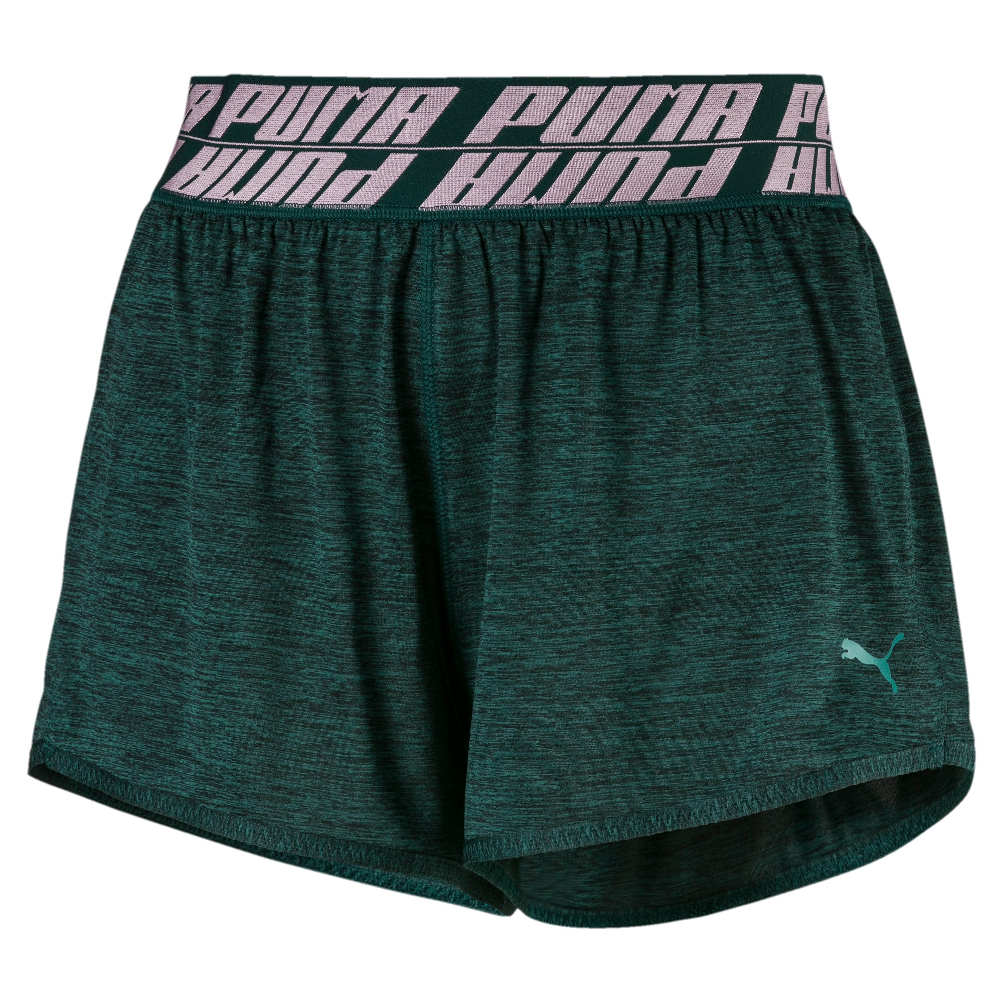 Thumbnail 4 of Own It Women's Training Shorts, Ponderosa Pine Heather, medium