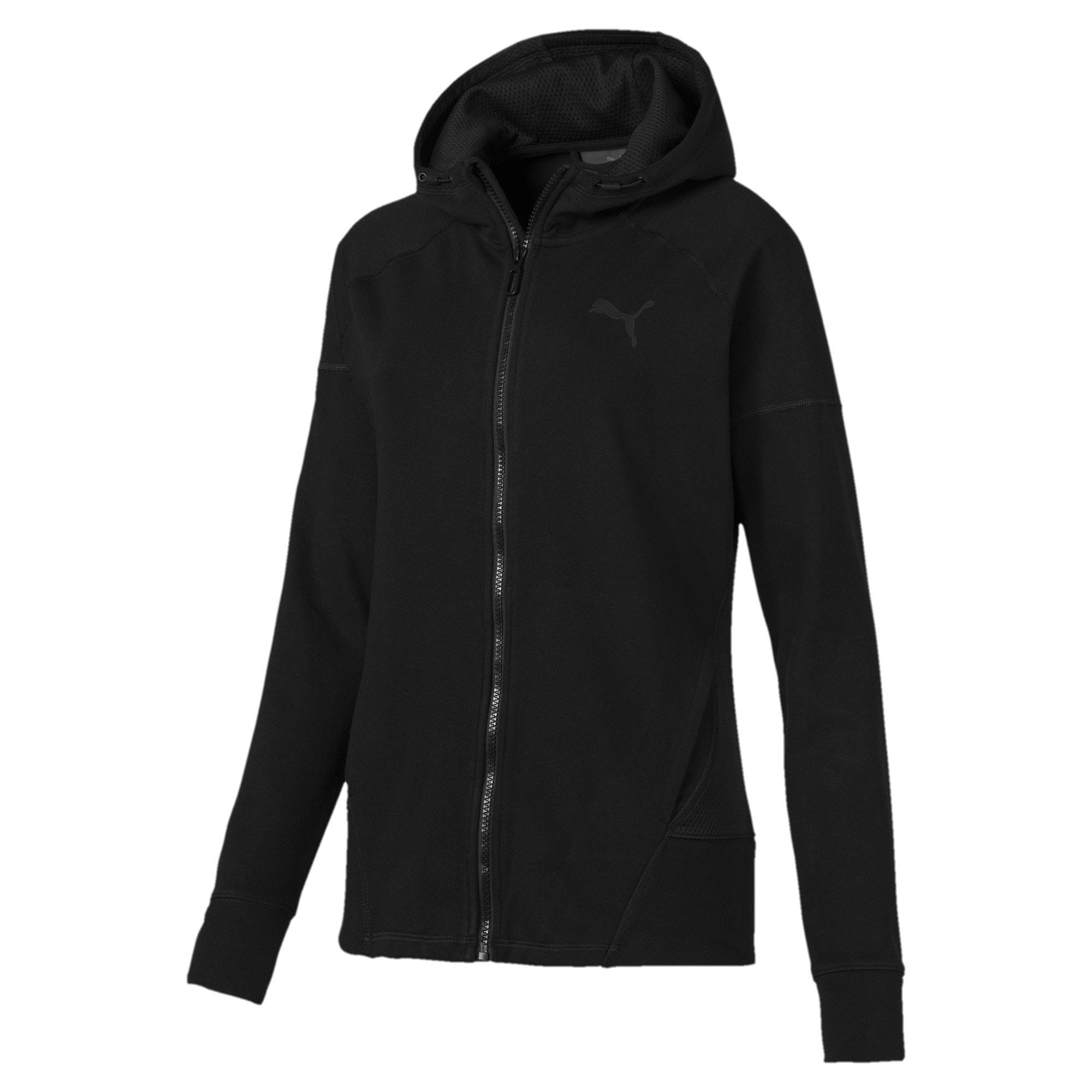 Thumbnail 4 of Yogini Knitted Full Zip Women's Track Jacket, Cotton Black, medium-IND