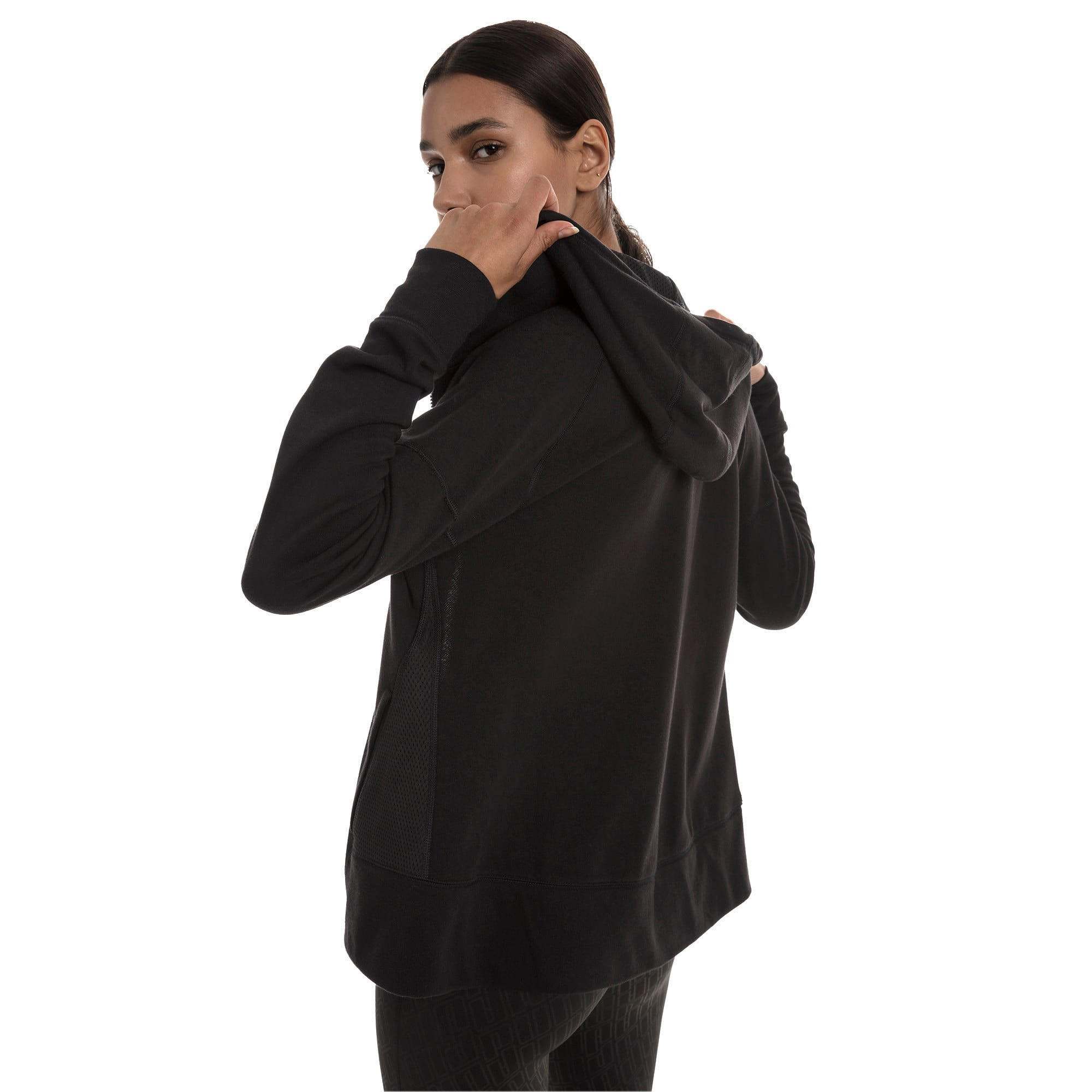 Thumbnail 2 of Yogini Knitted Full Zip Women's Track Jacket, Cotton Black, medium-IND