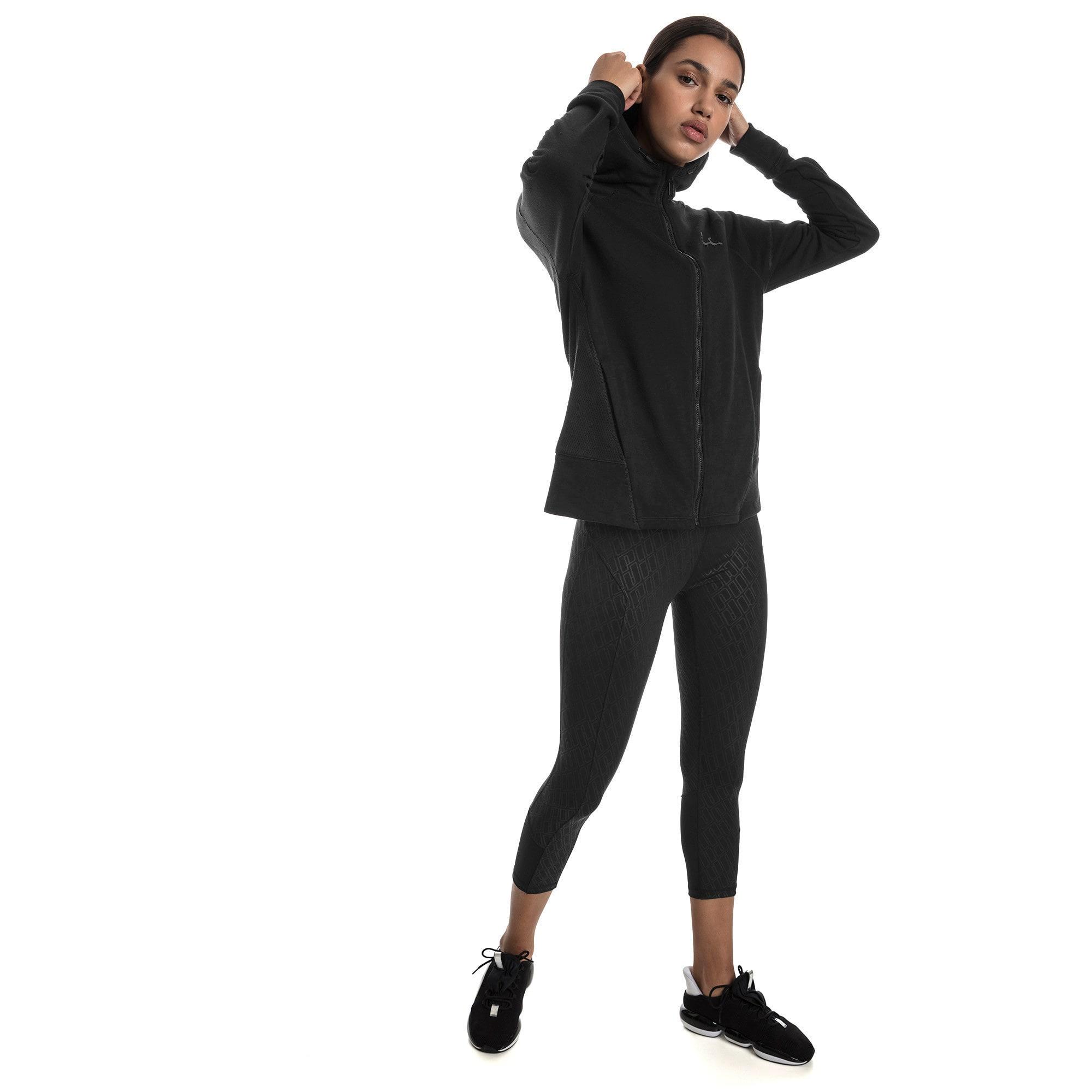Thumbnail 3 of Yogini Knitted Full Zip Women's Track Jacket, Cotton Black, medium-IND